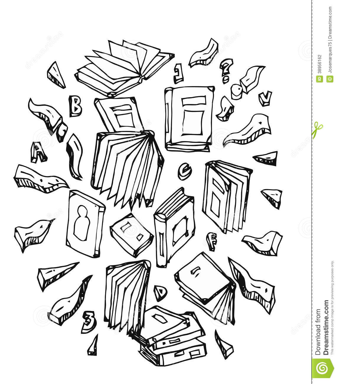 Romance Book Cover Vector : Student and books set symbols stock vector image