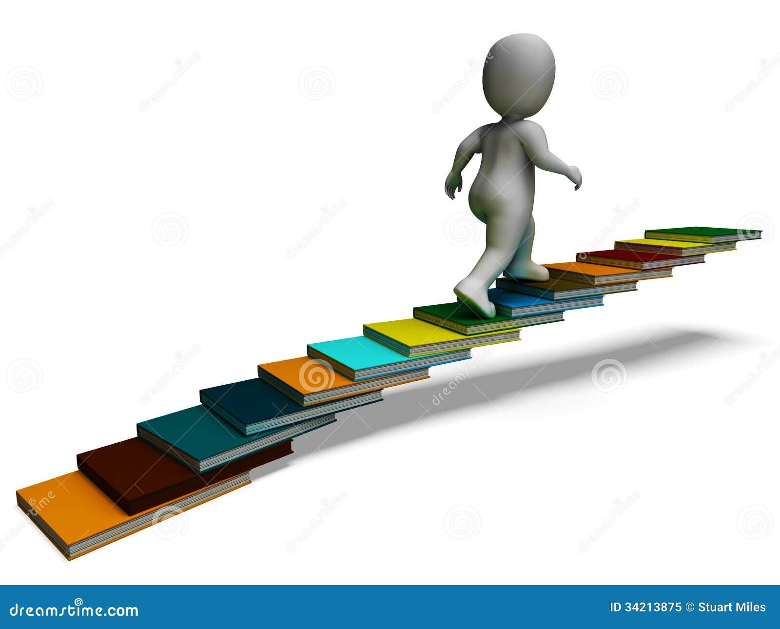 Student Climbing Books Showing Education Stock Illustration ... for Student Climbing Ladder  34eri