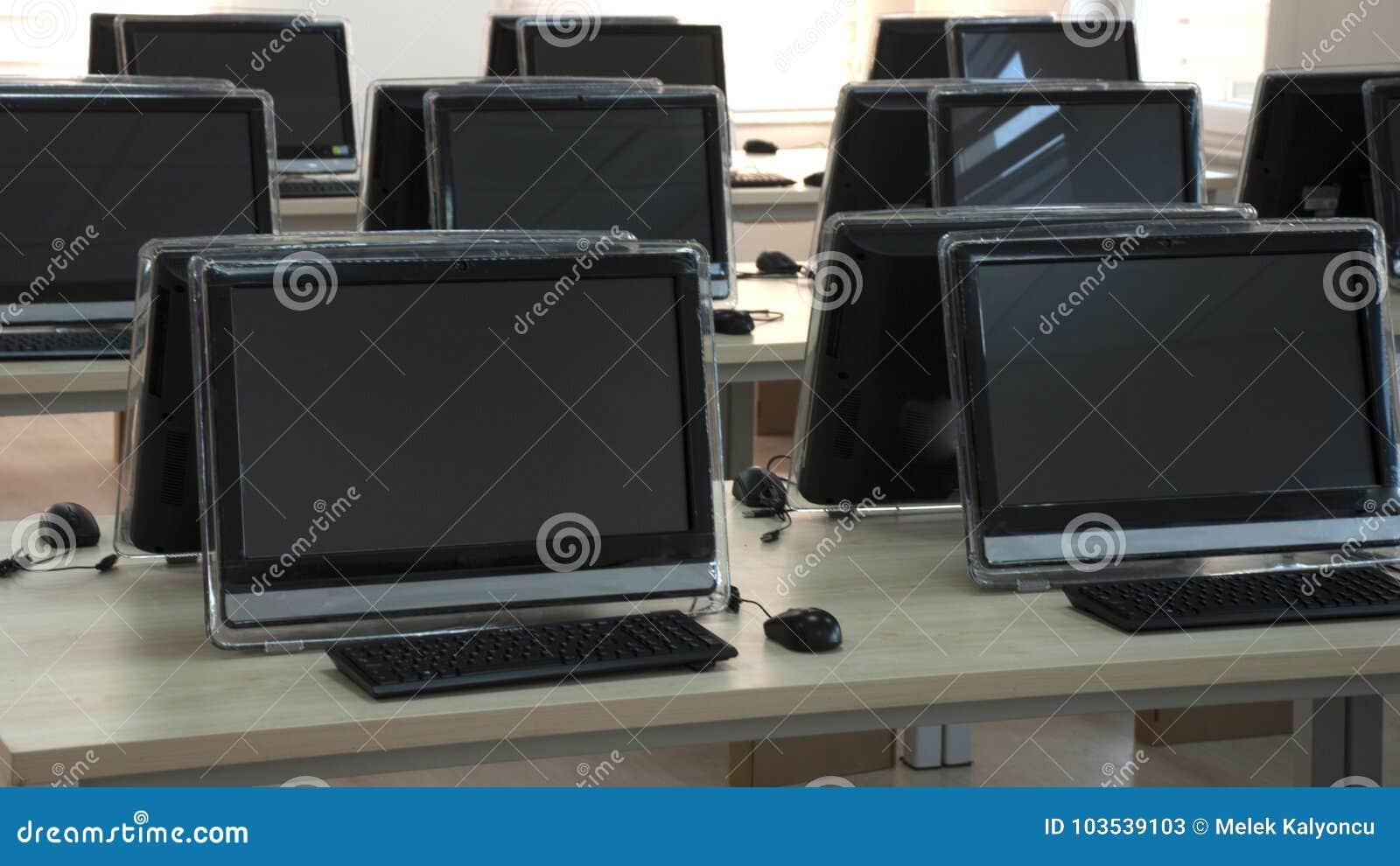 Student Computer Laboratory Stock Image - Image of ...