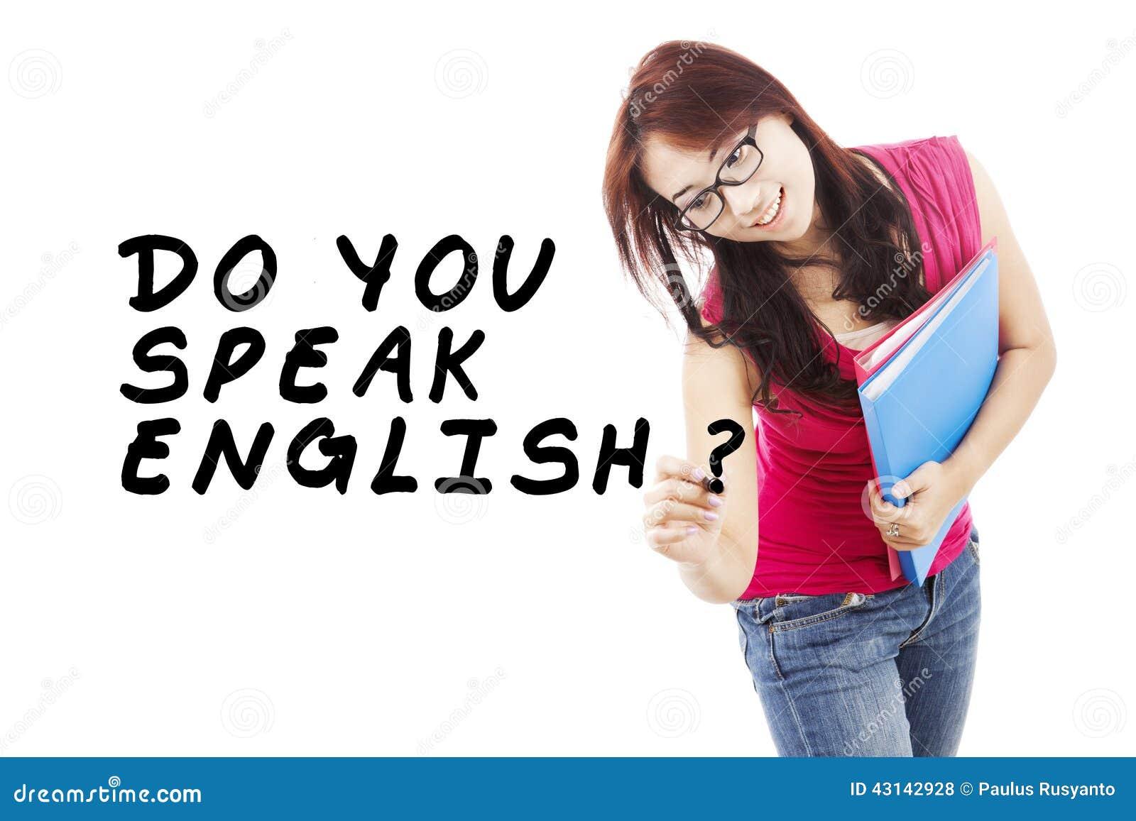 Student, der Englisch 1 lernt