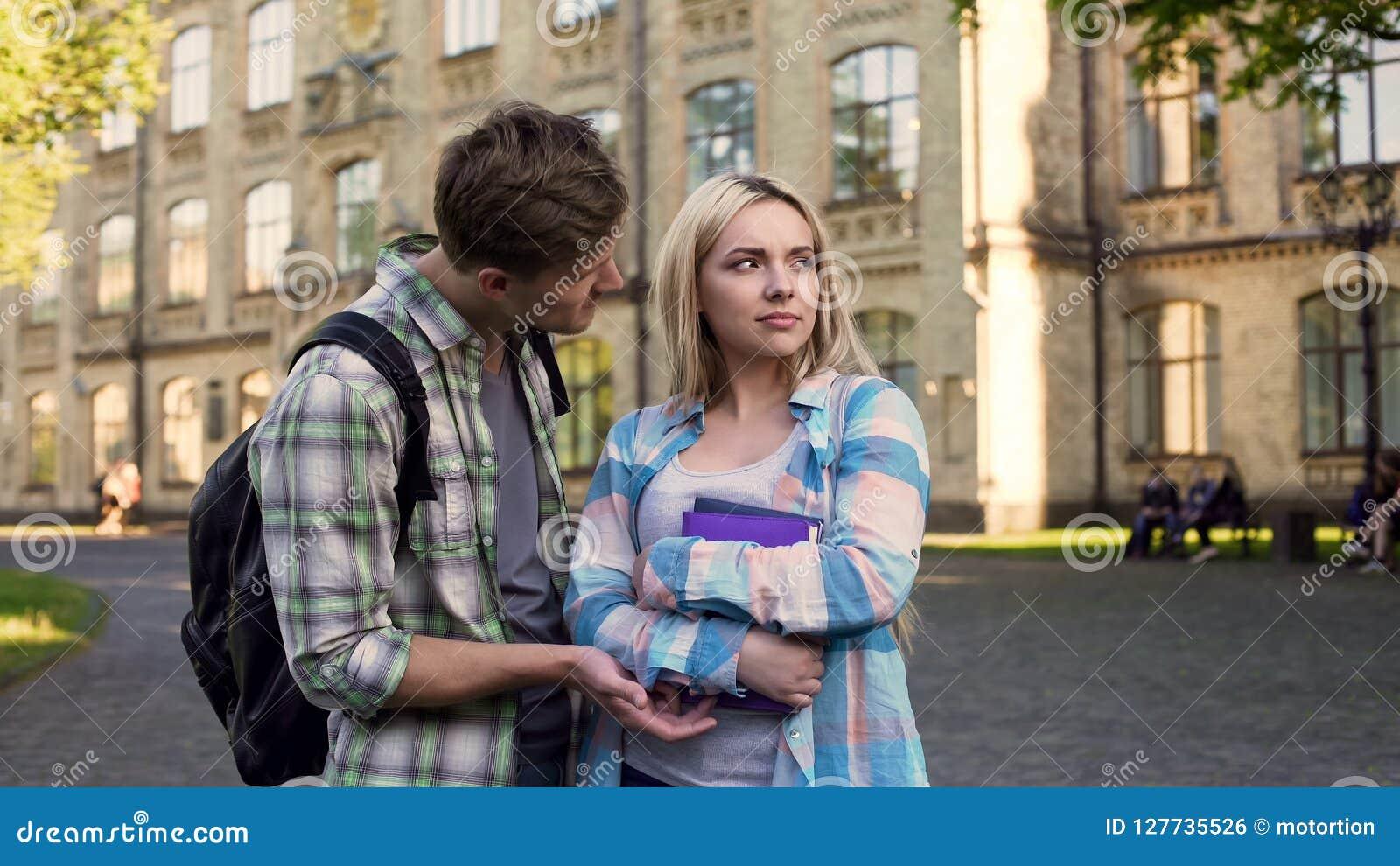 einseitiges flirten)