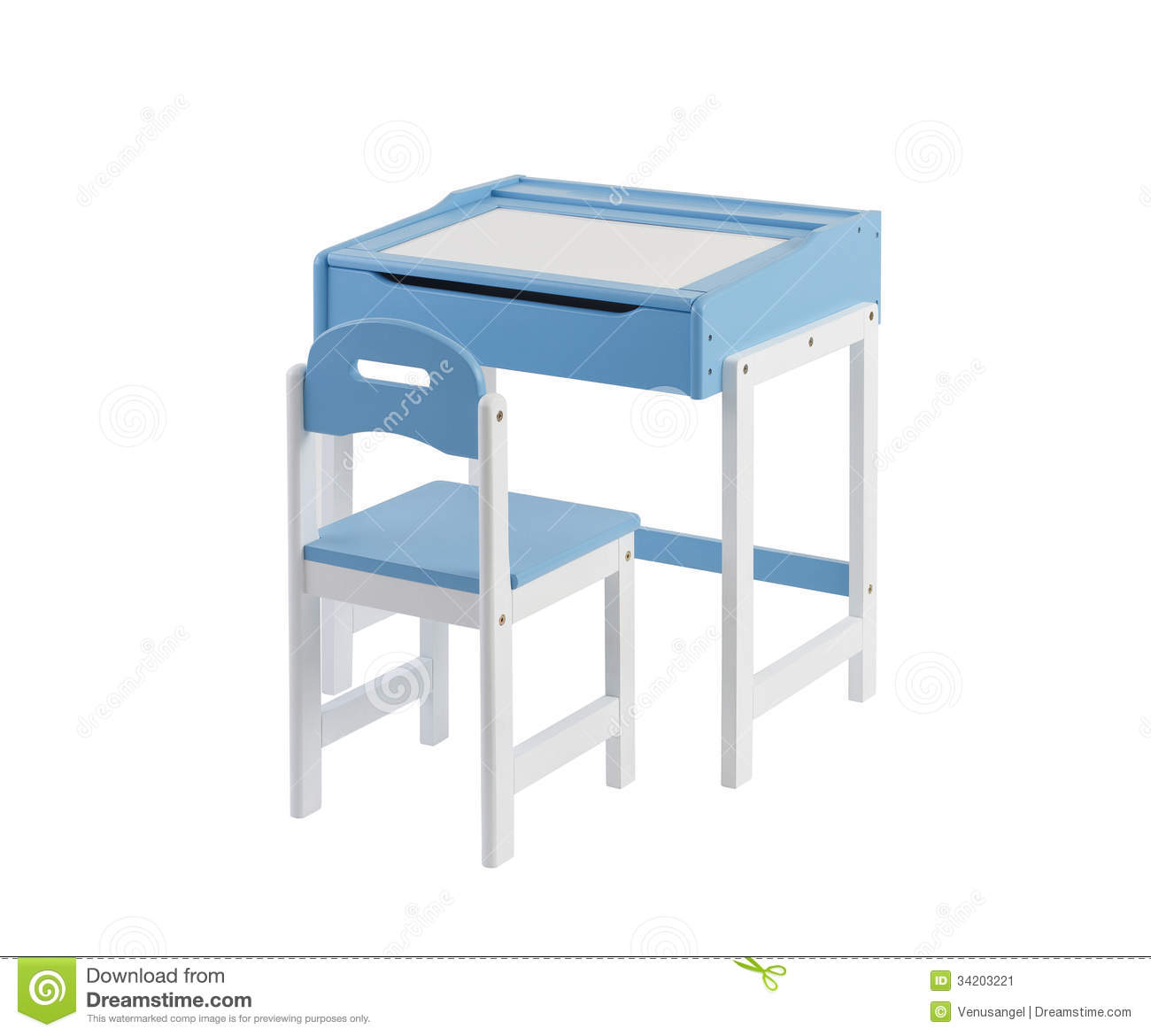 Student Desk With Whiteboard Top And Chair Stock Image ...