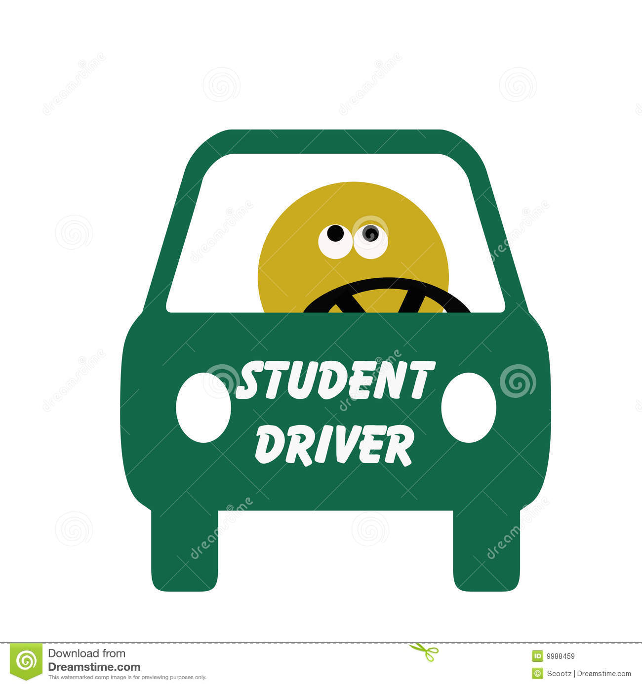 It's just an image of Sassy Student Driver Sign Printable