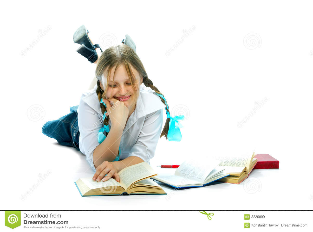 Student Girl Reading Books Royalty Free Stock Images - Image: 3220899: dreamstime.com/royalty-free-stock-images-student-girl-reading-books...