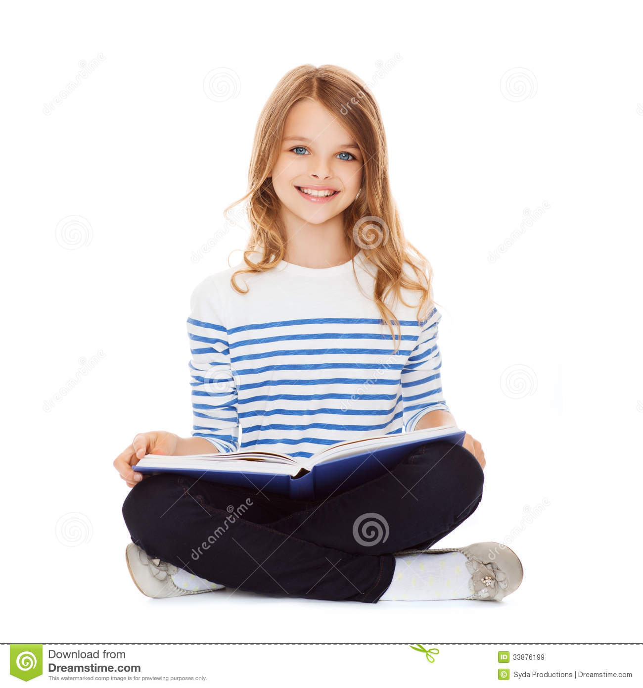 Schools Education6 25 18students: Student Girl Studying And Reading Book Stock Image
