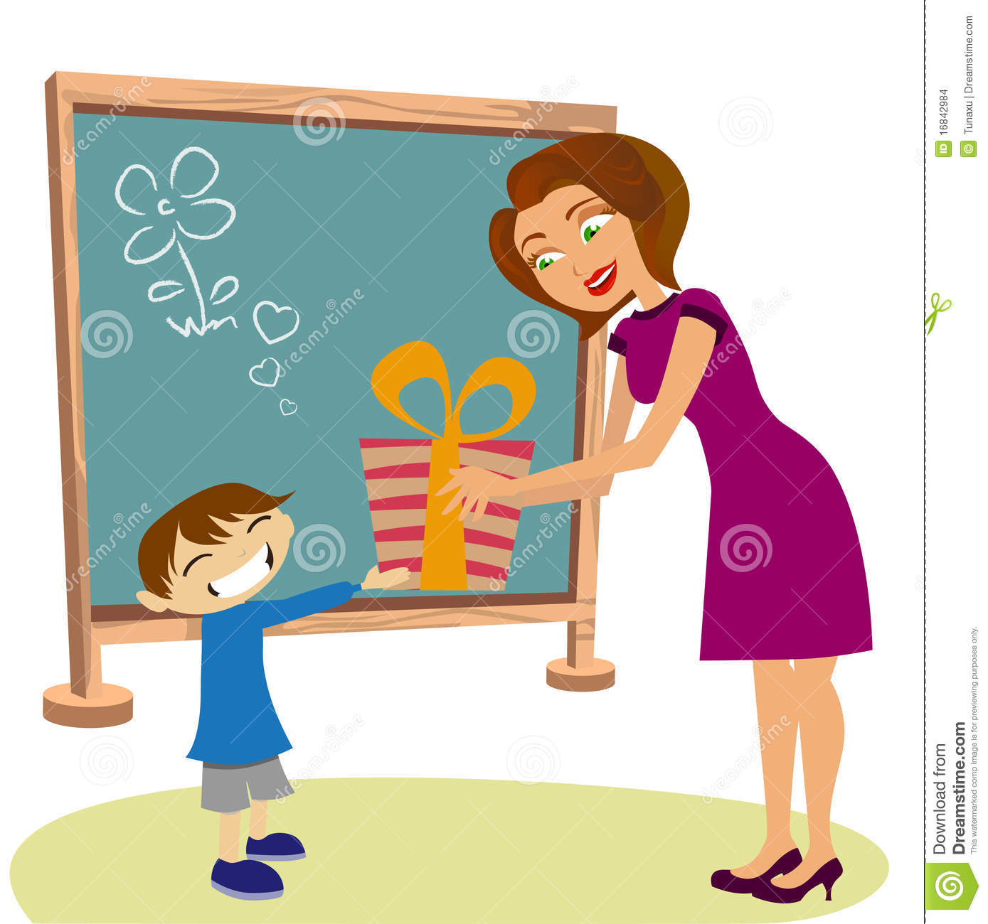 Student Giving Gift Her Teacher Stock Images - Image: 16842984