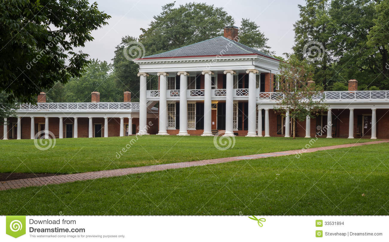Student Houses And Walkway Uva Editorial Stock Image