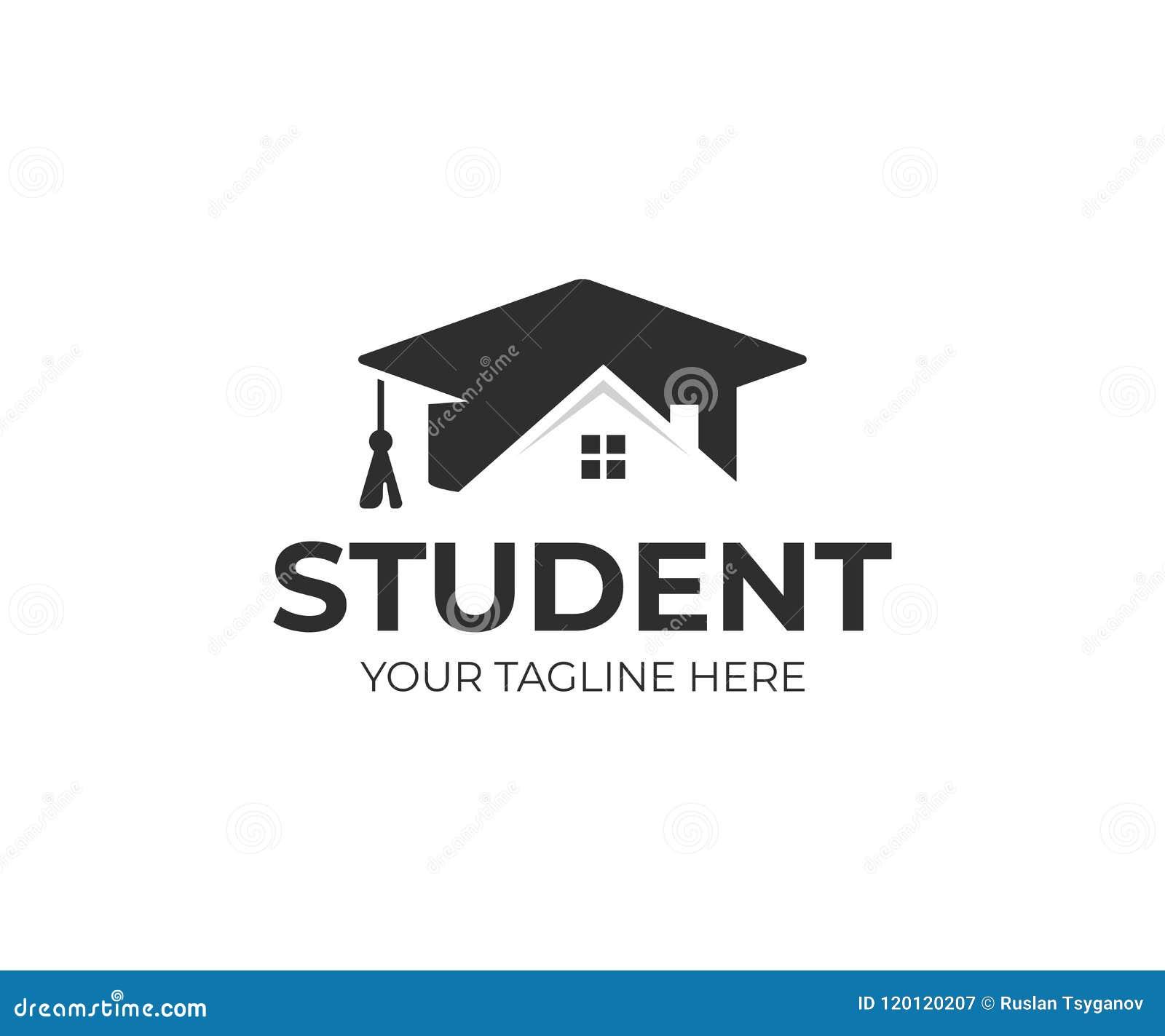 Diploma Template With School Building Cartoon Vector ...