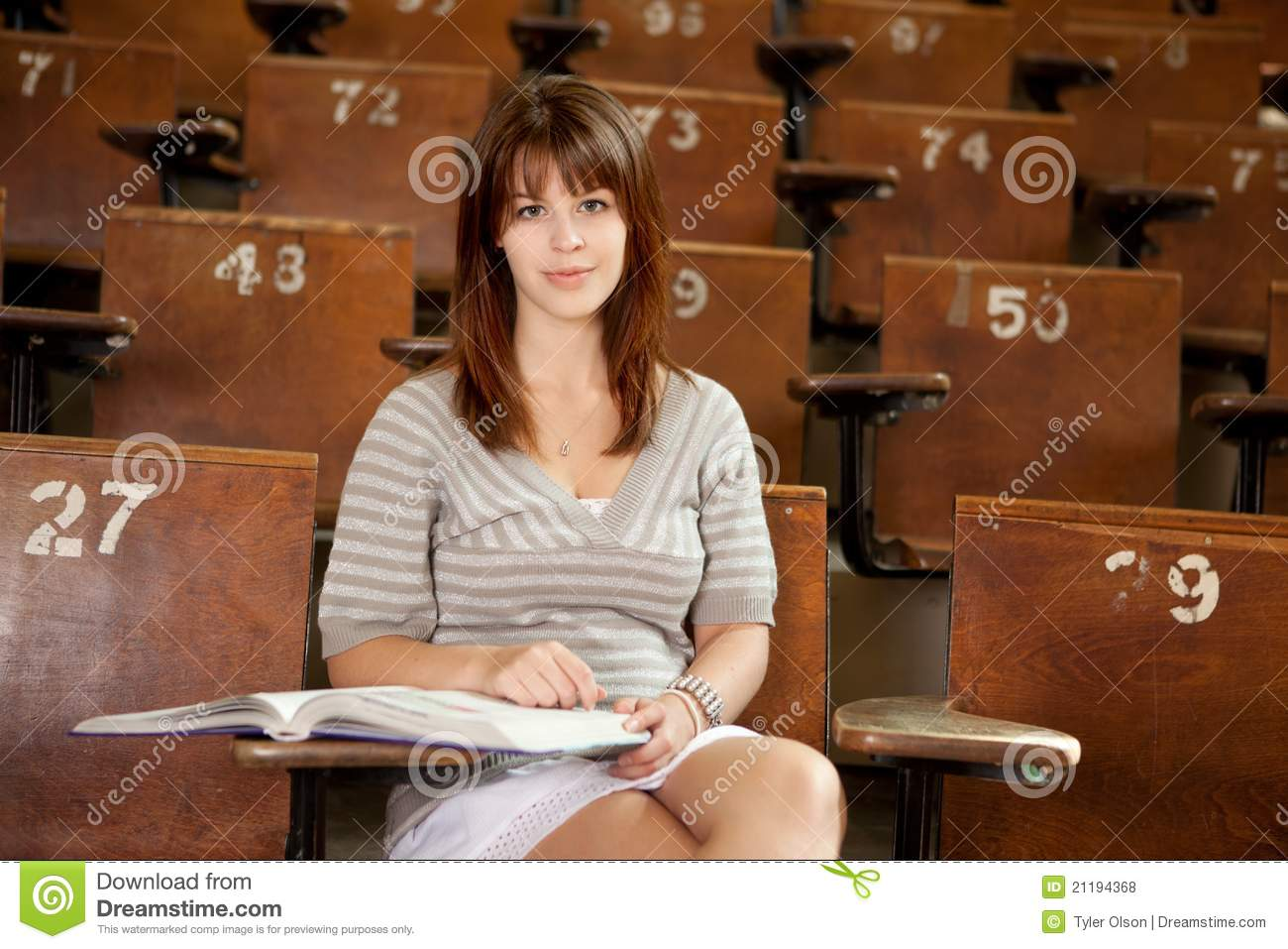 Student in Lecture Hall