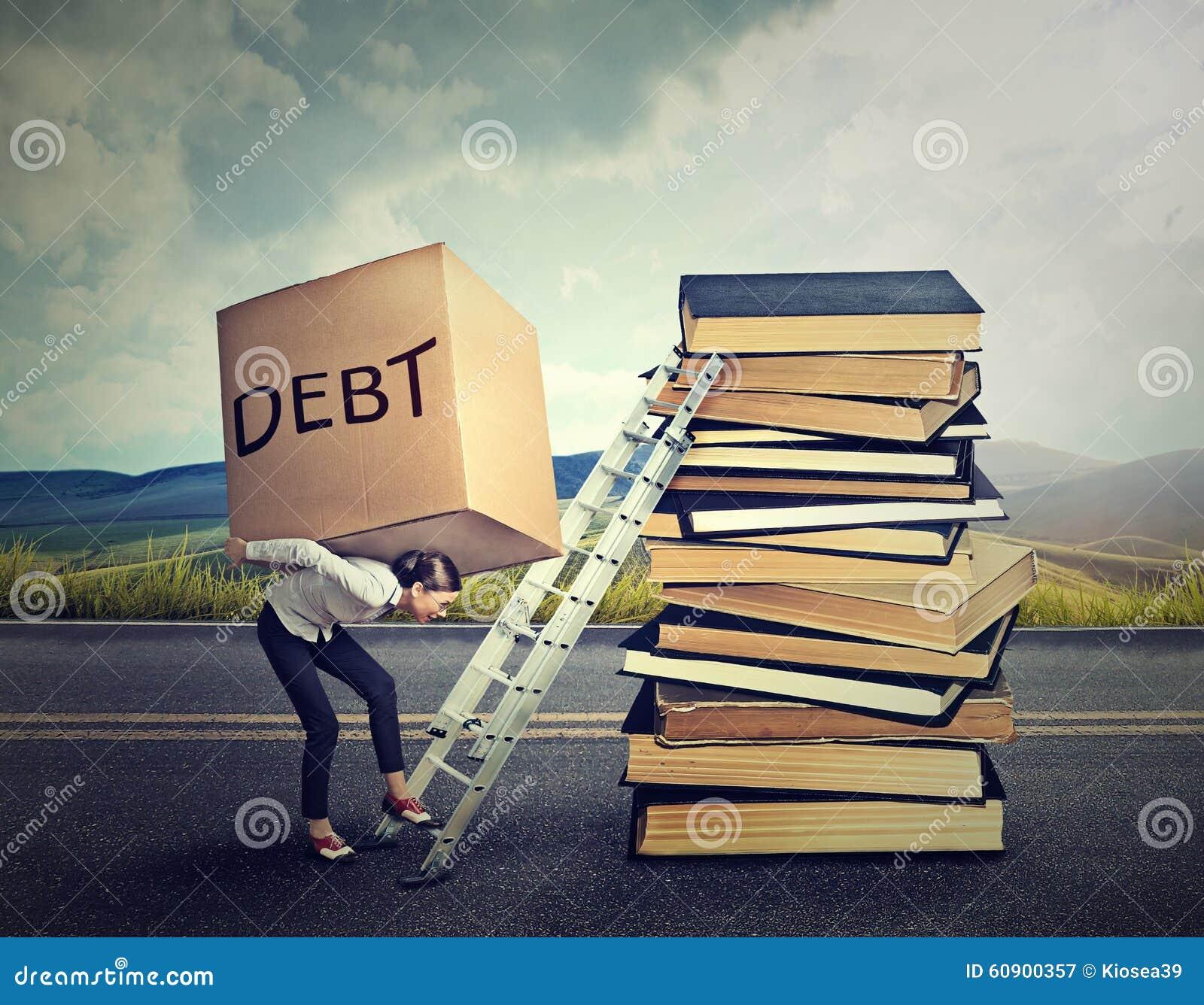 Debt Financing: Student Debt Stock Photography