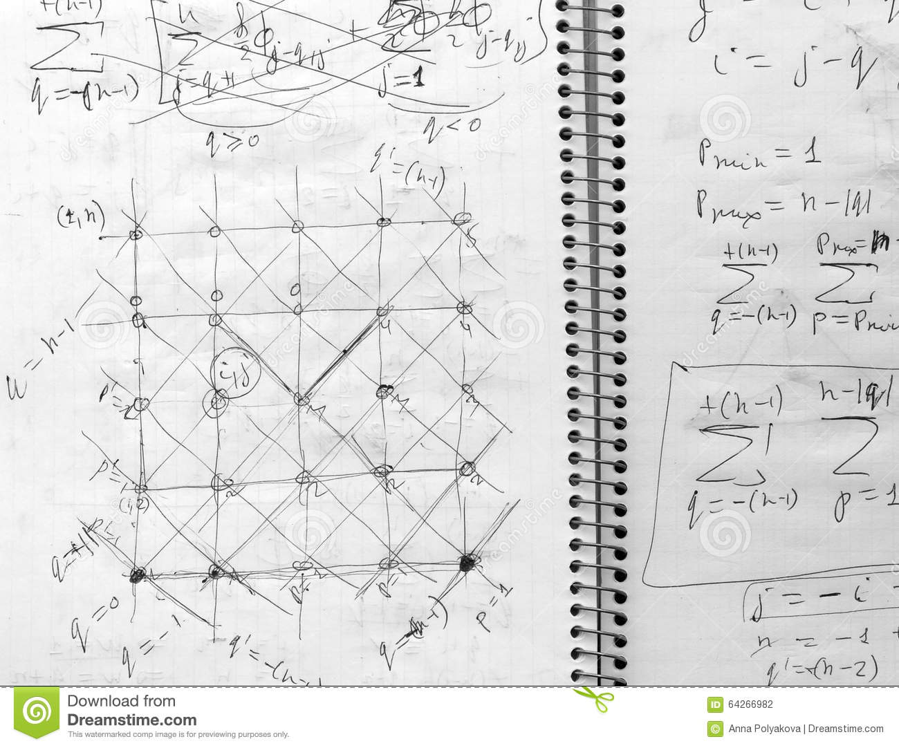 Student Notes On Physics  Fragment  Stock Photo - Image of