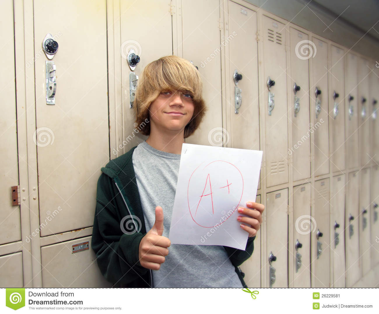 student with a  paper stock image