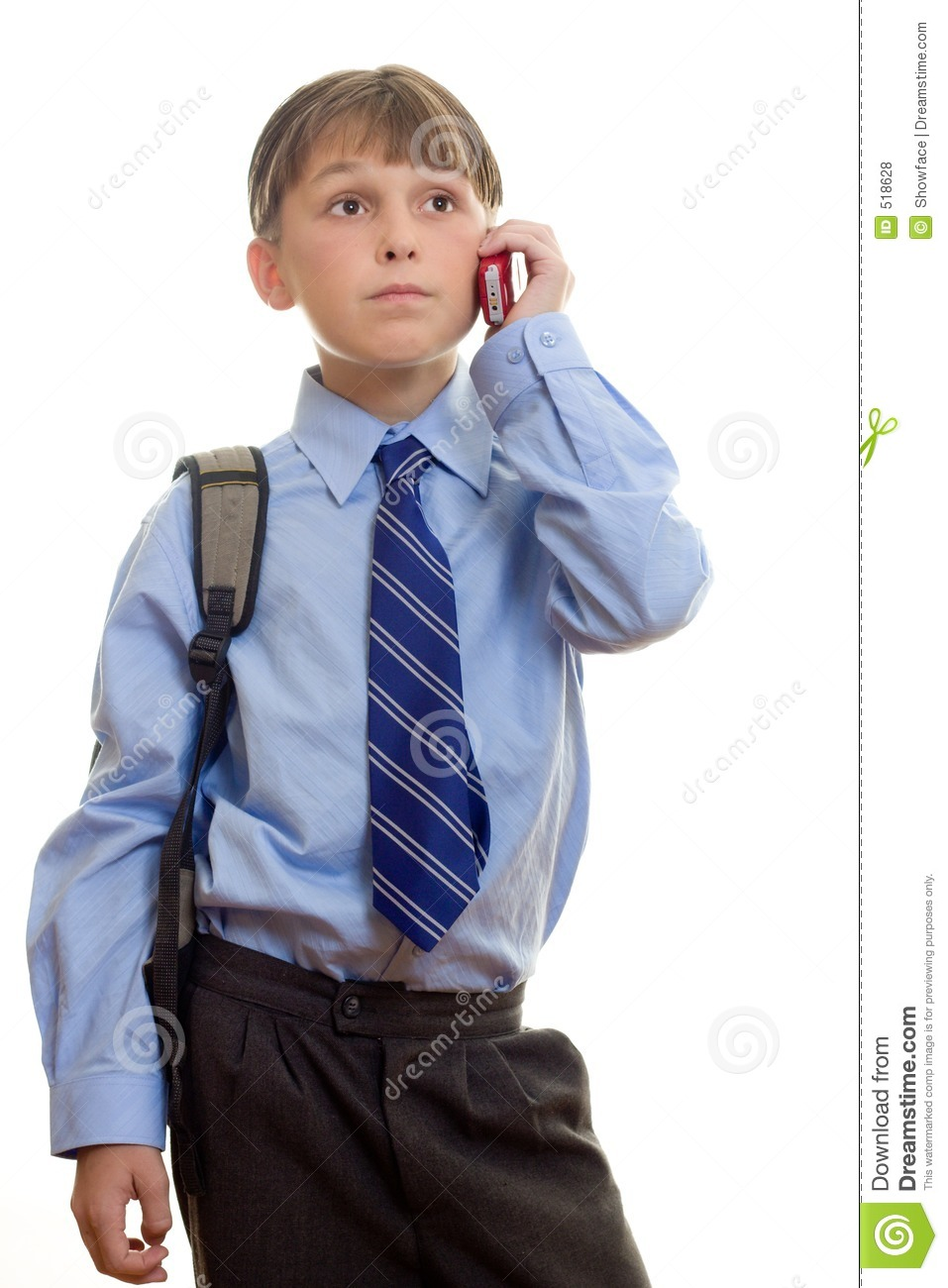Student with Phone to Ear