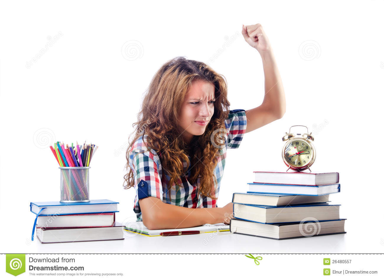 Student Preparing For Exams Royalty Free Stock Photography - Image ...