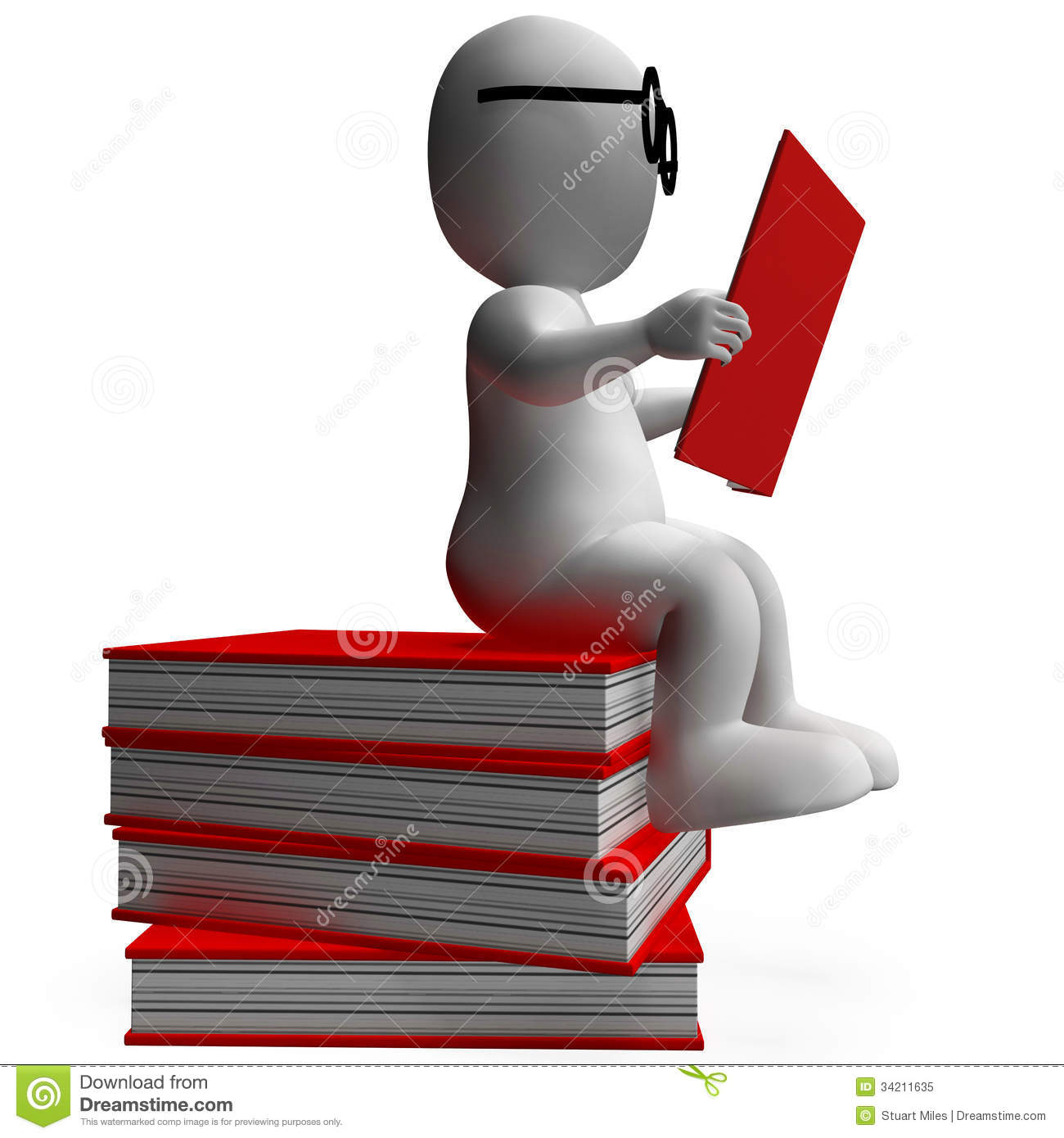 Student Reading Books Shows Studious Royalty Free Stock Photo - Image ...