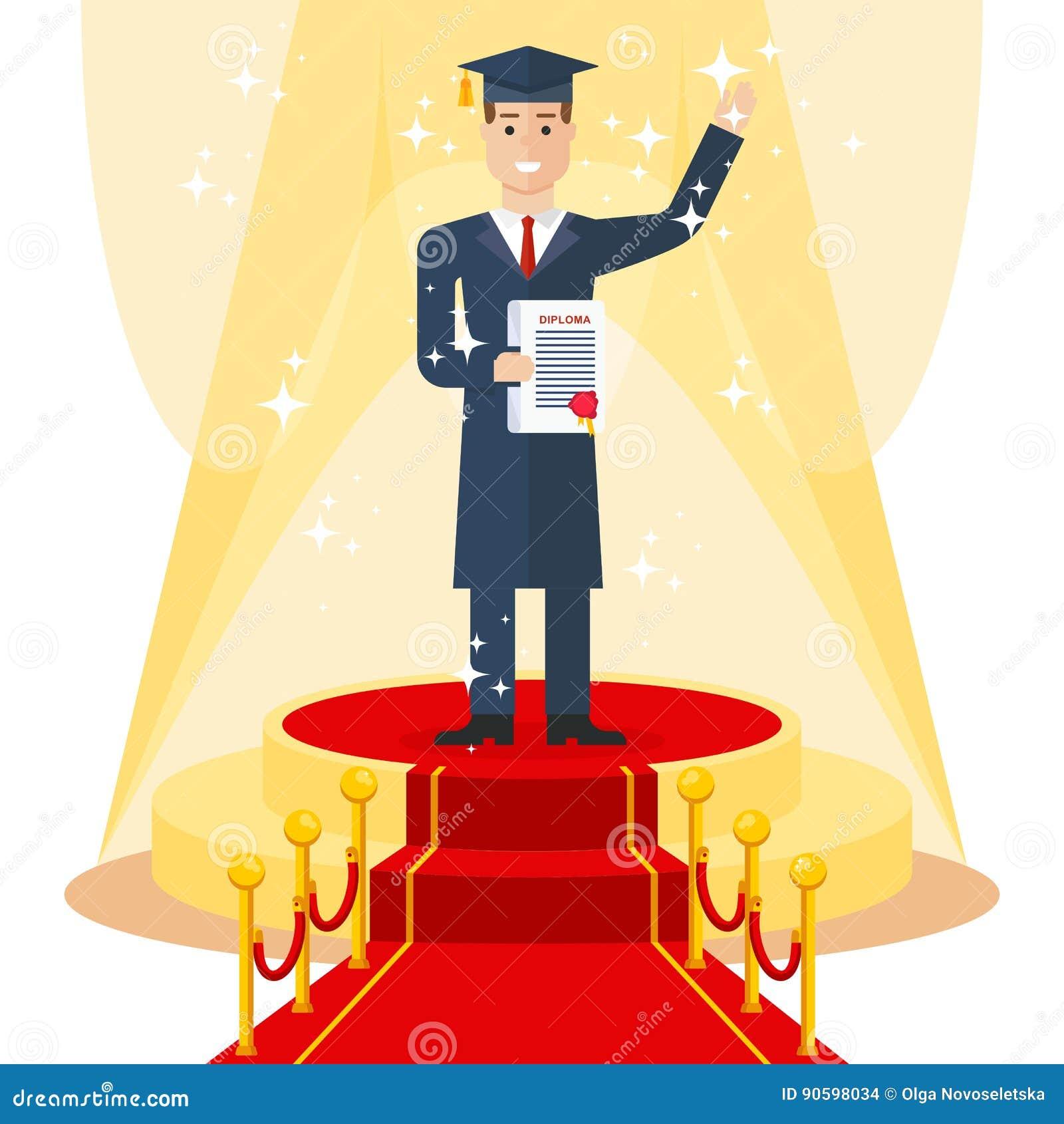 student on red carpet stock vector. illustration of light - 90598034