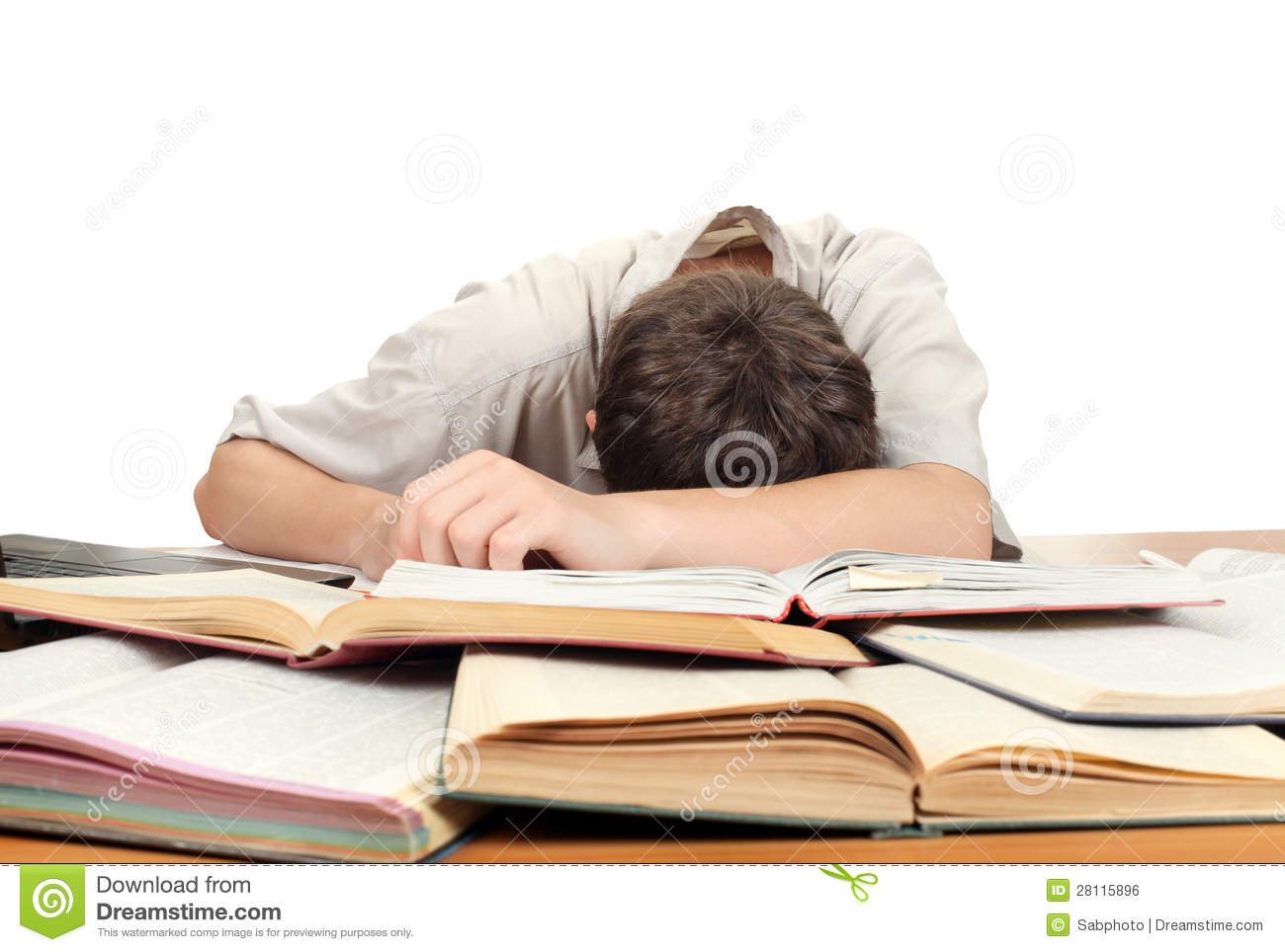 Student Sleeping stock photo. Image of homework ...