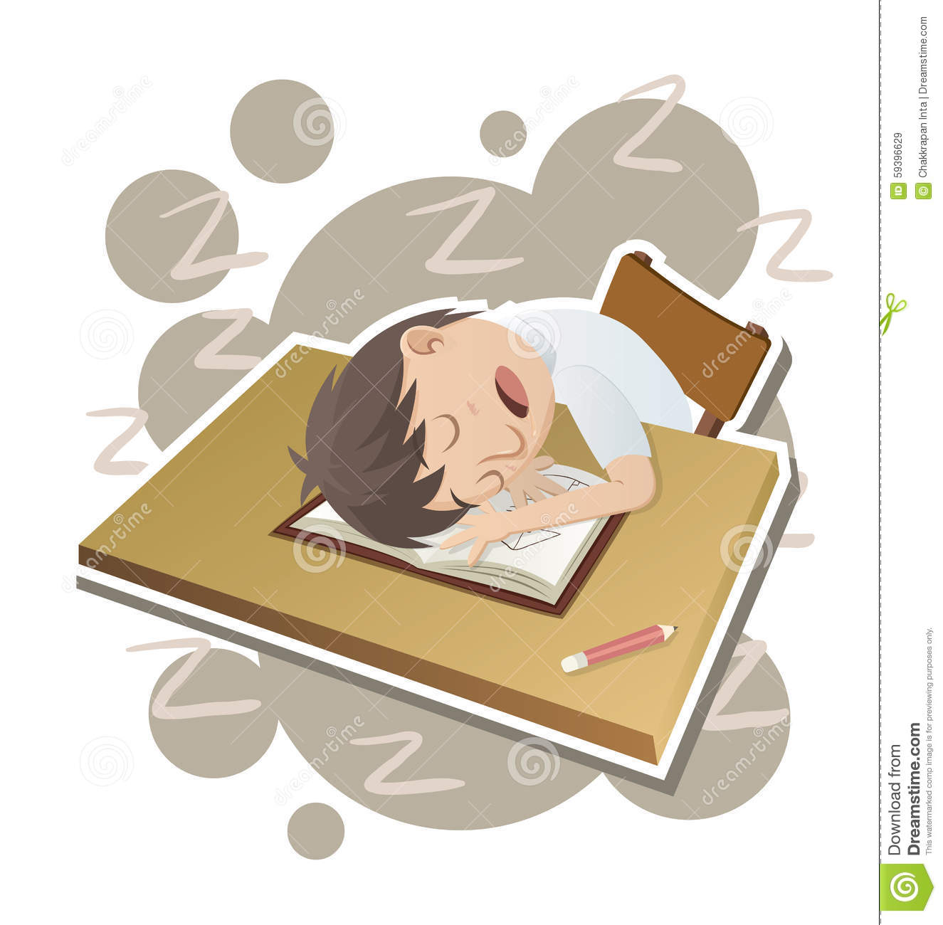 Creative Hand Painted Scenes Student Sleeping, Cartoon, Boy, Learning PNG  Transparent Clipart Image and PSD File for Free Download