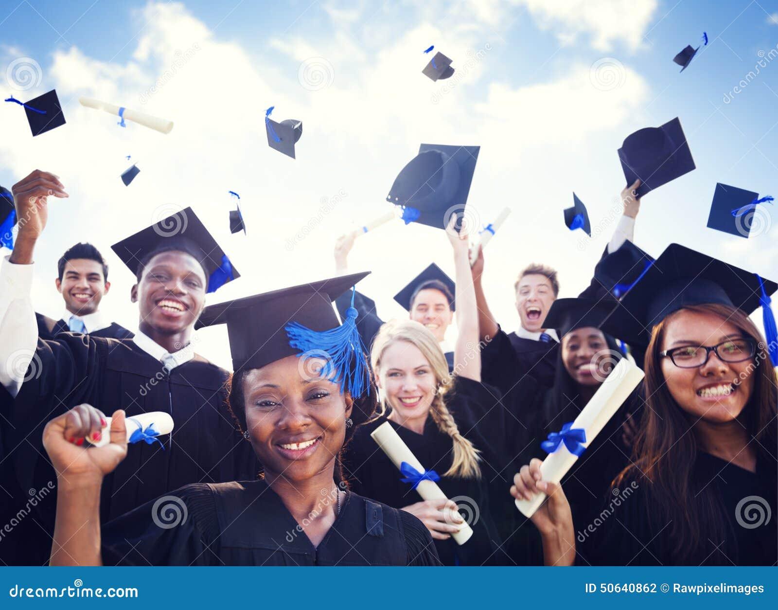 Student Success Concept för berömutbildningsavläggande av examen
