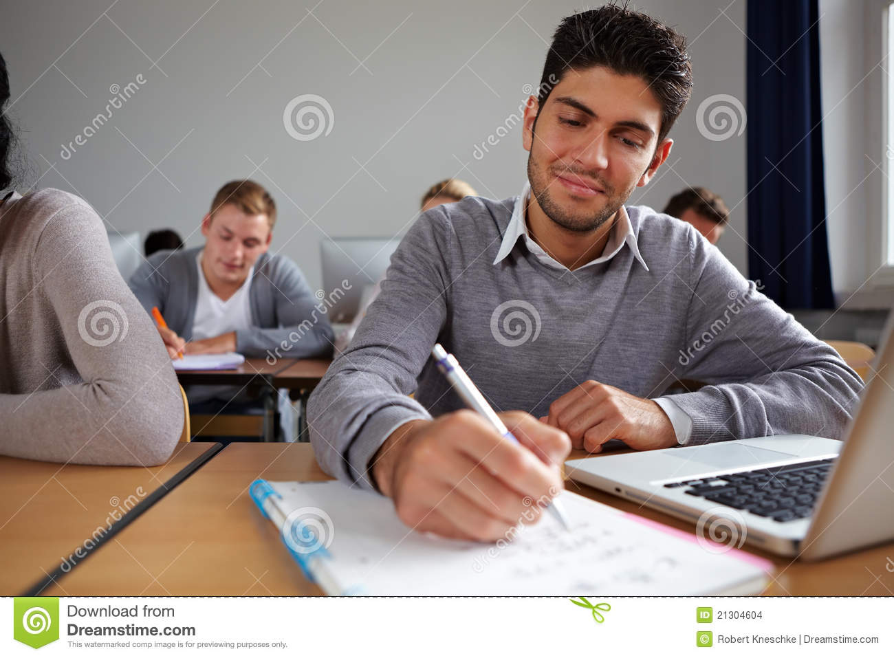 Student Taking Notes In Class Stock Images - Image: 21304604