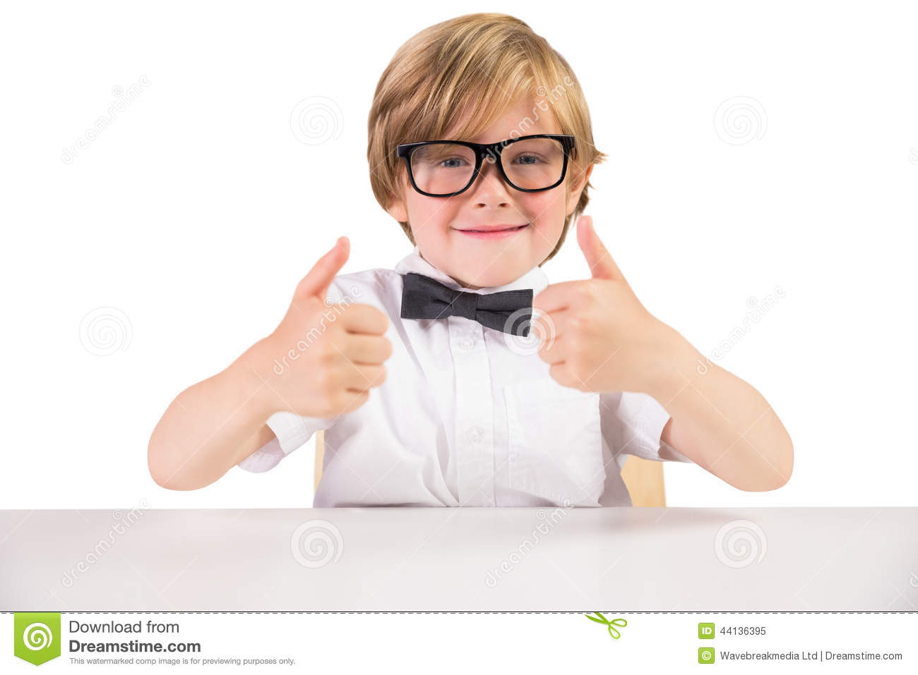 Child Wearing Glasses Bow Tie
