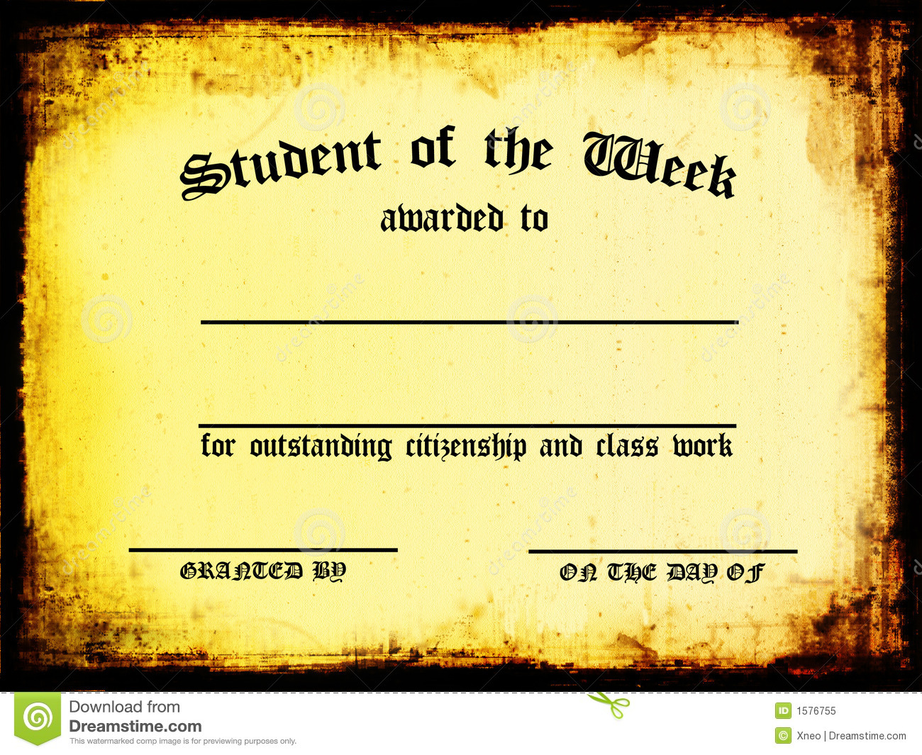Student Of The Week Stock Illustration Illustration Of Document