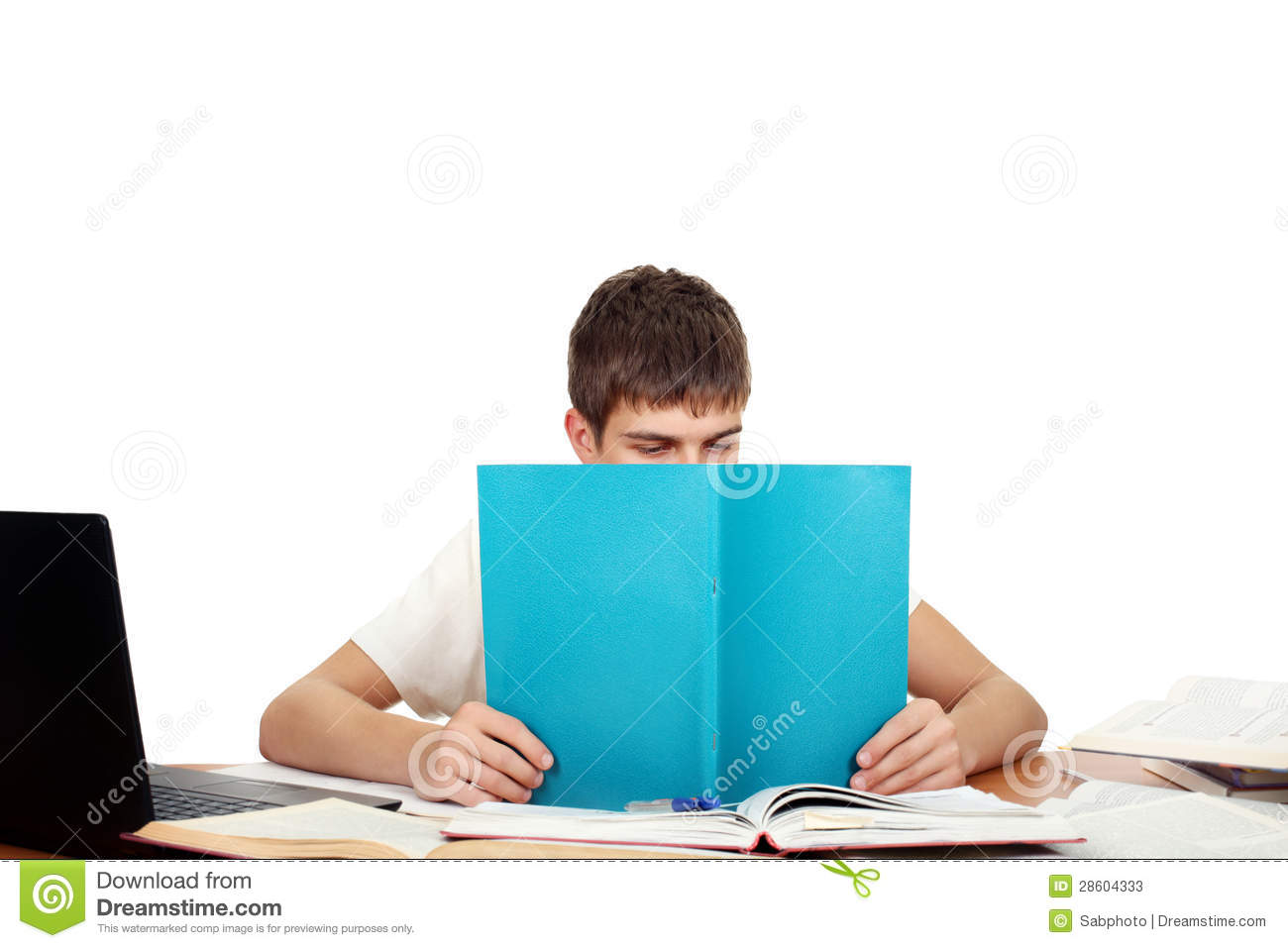 Student With Workbook