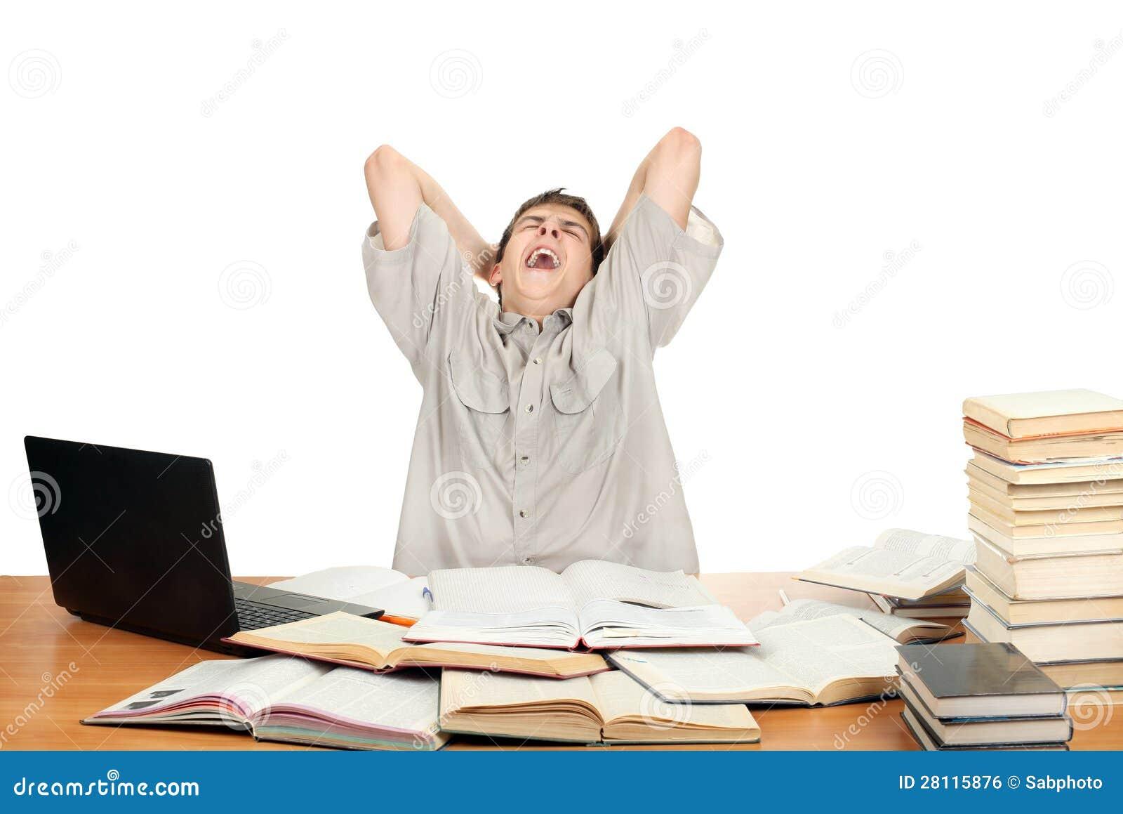 Student Yawning Royalty Free Stock Image - Image: 28115876