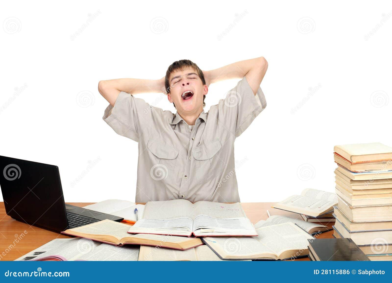 Student Yawning Royalty Free Stock Image - Image: 28115886