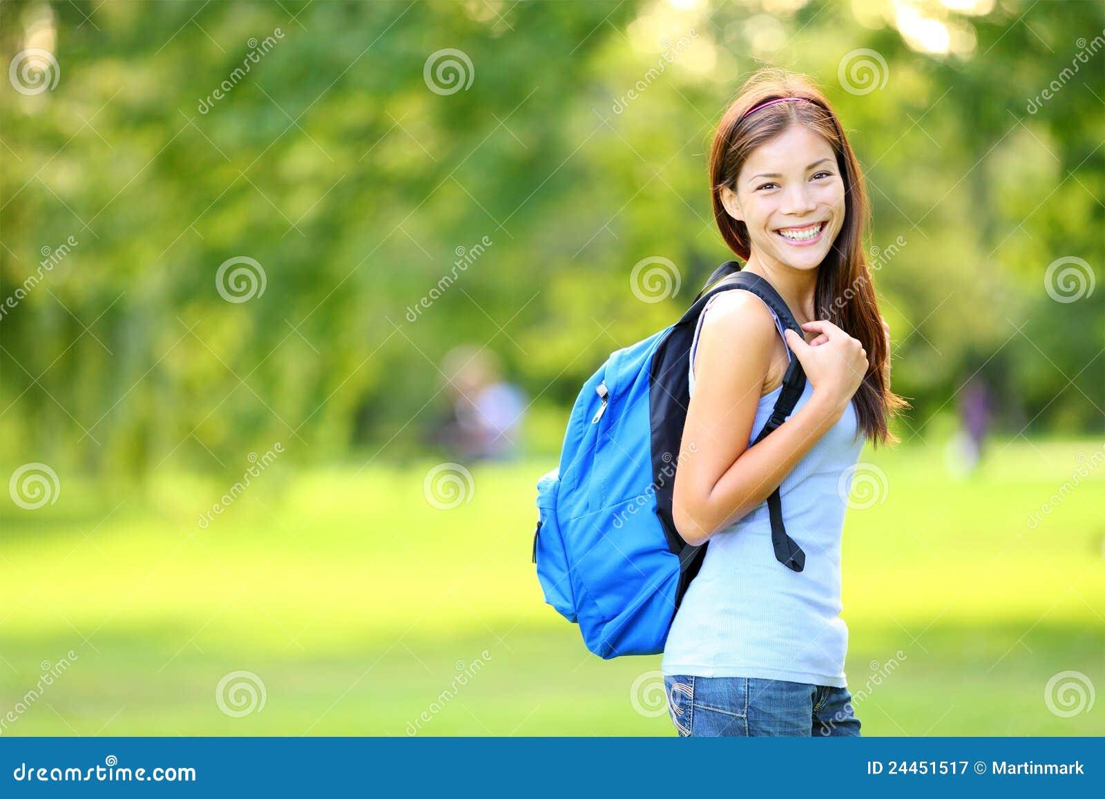 Studente in de zomer/de lente