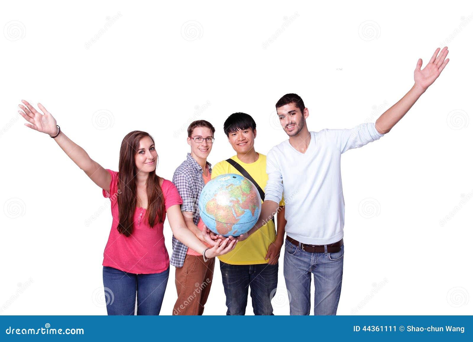 Studente di scambio felice