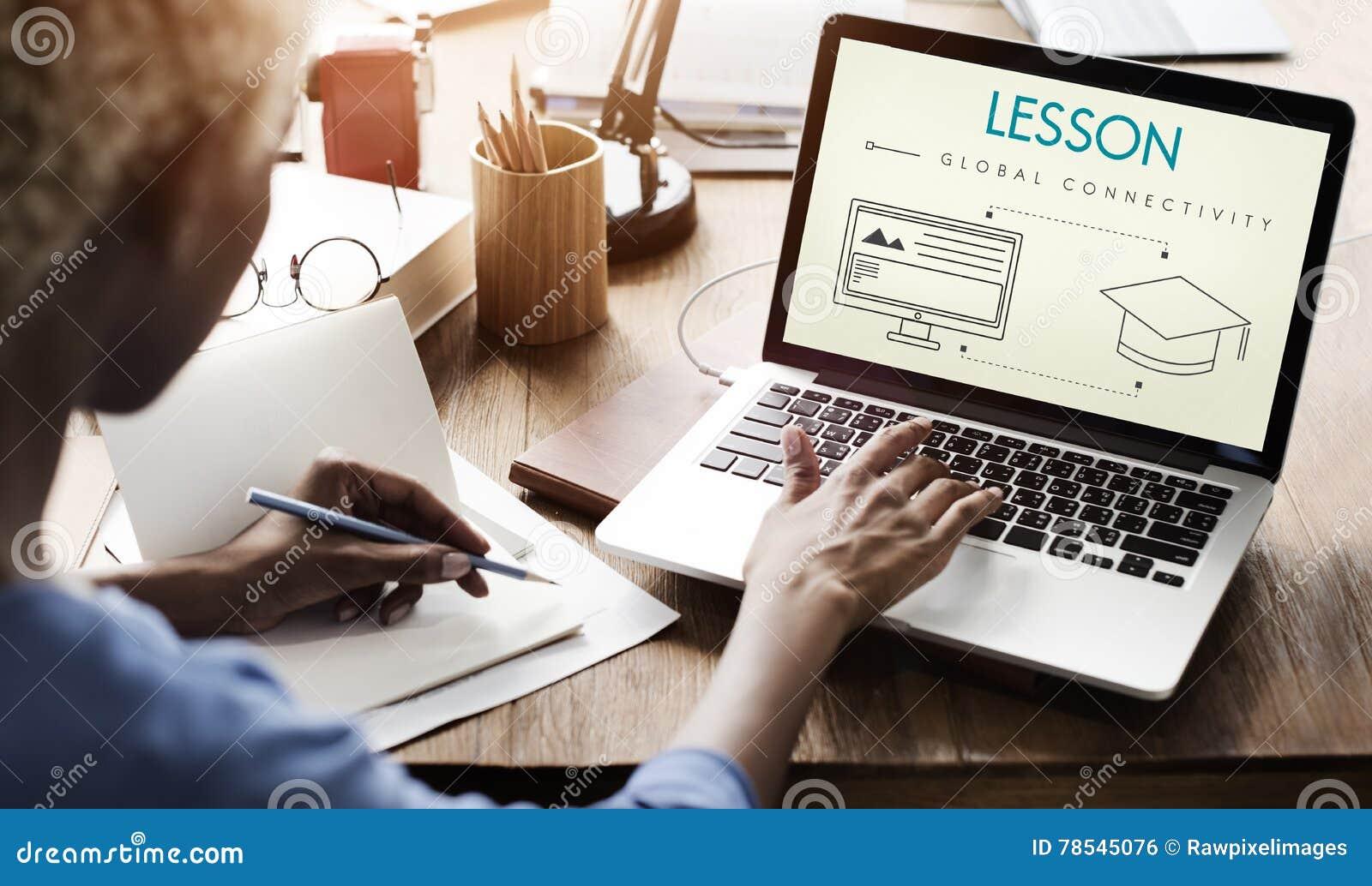 Studente globale Graphic Concept di connettività di lezione