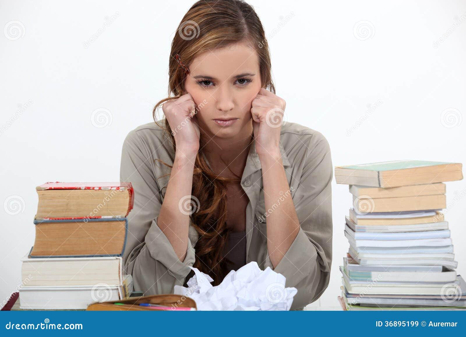 Download Studente infelice immagine stock. Immagine di ragazza - 36895199