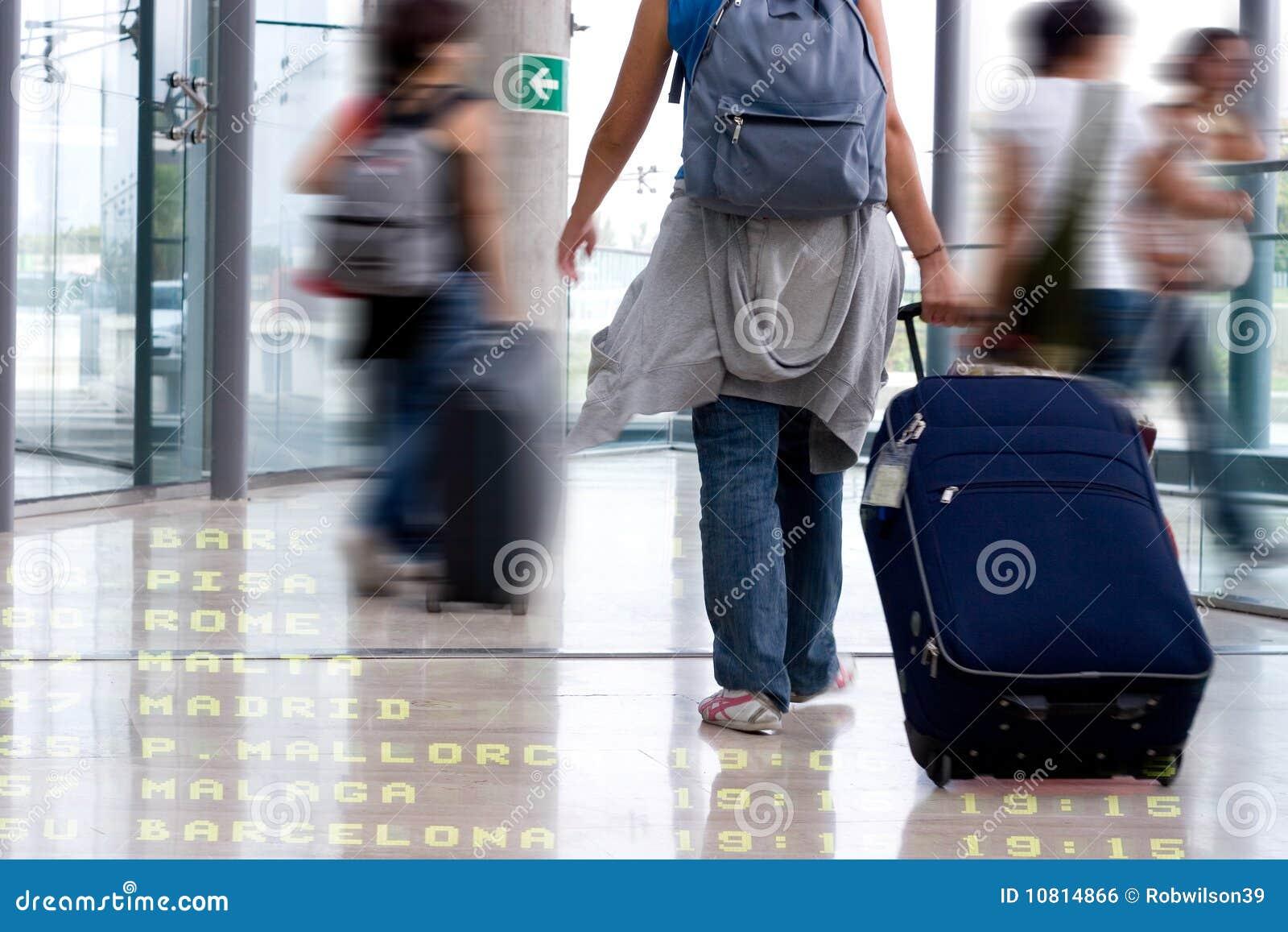 Studenten bij de Luchthaven