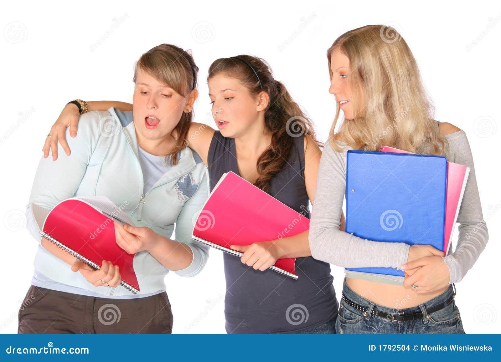 Studenten met Notitieboekjes