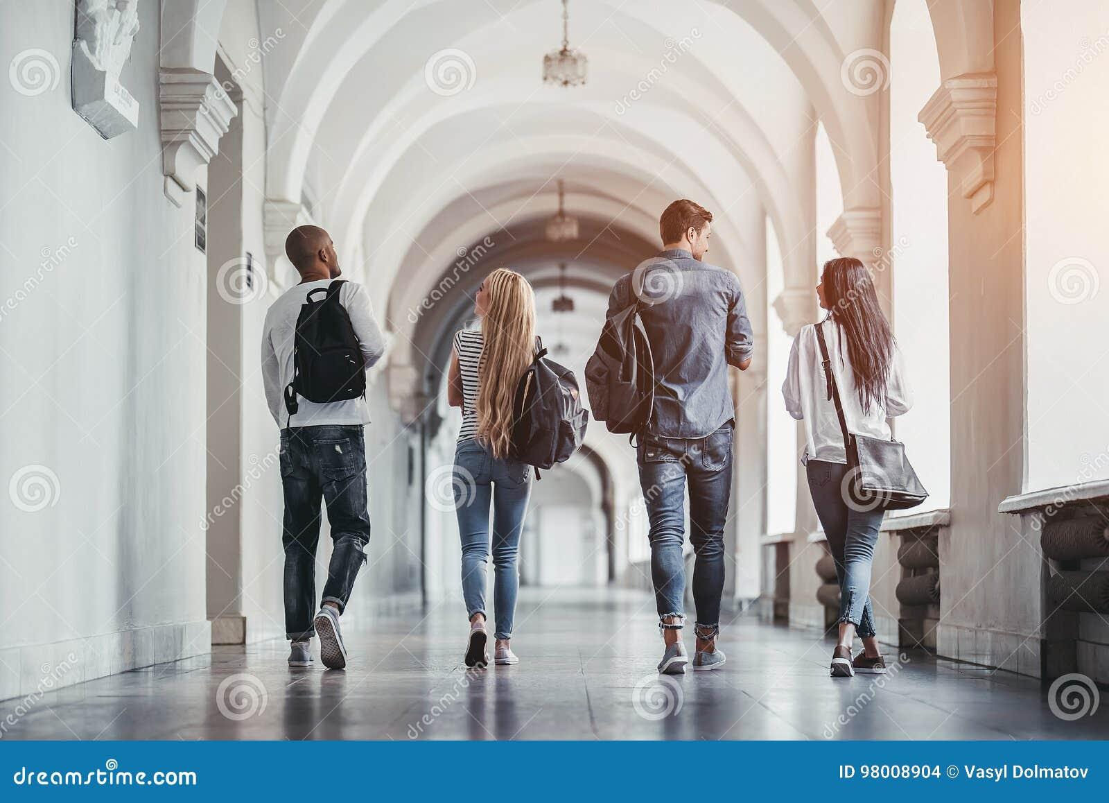 Studenten op universiteit
