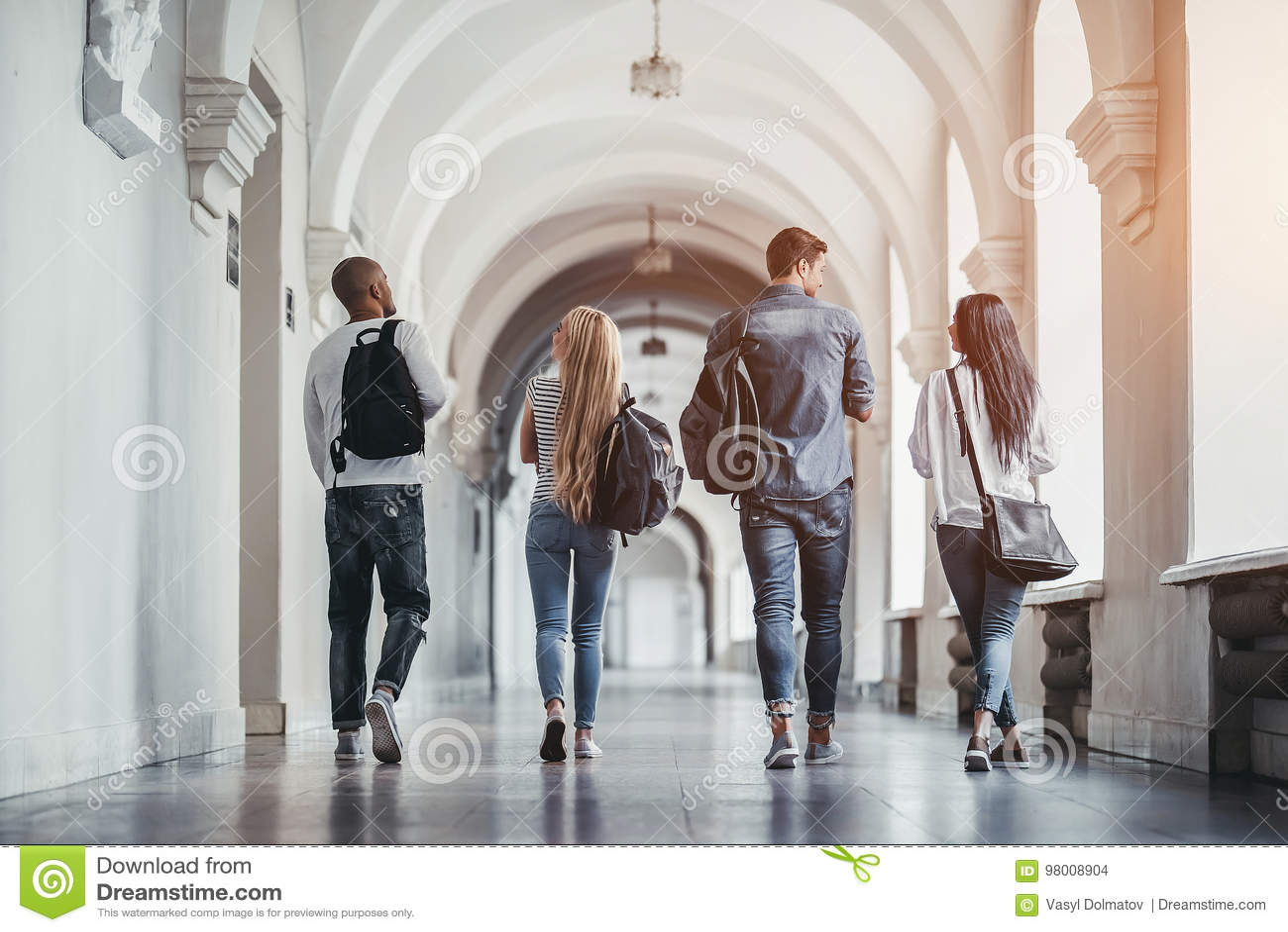 Studenter i universitet