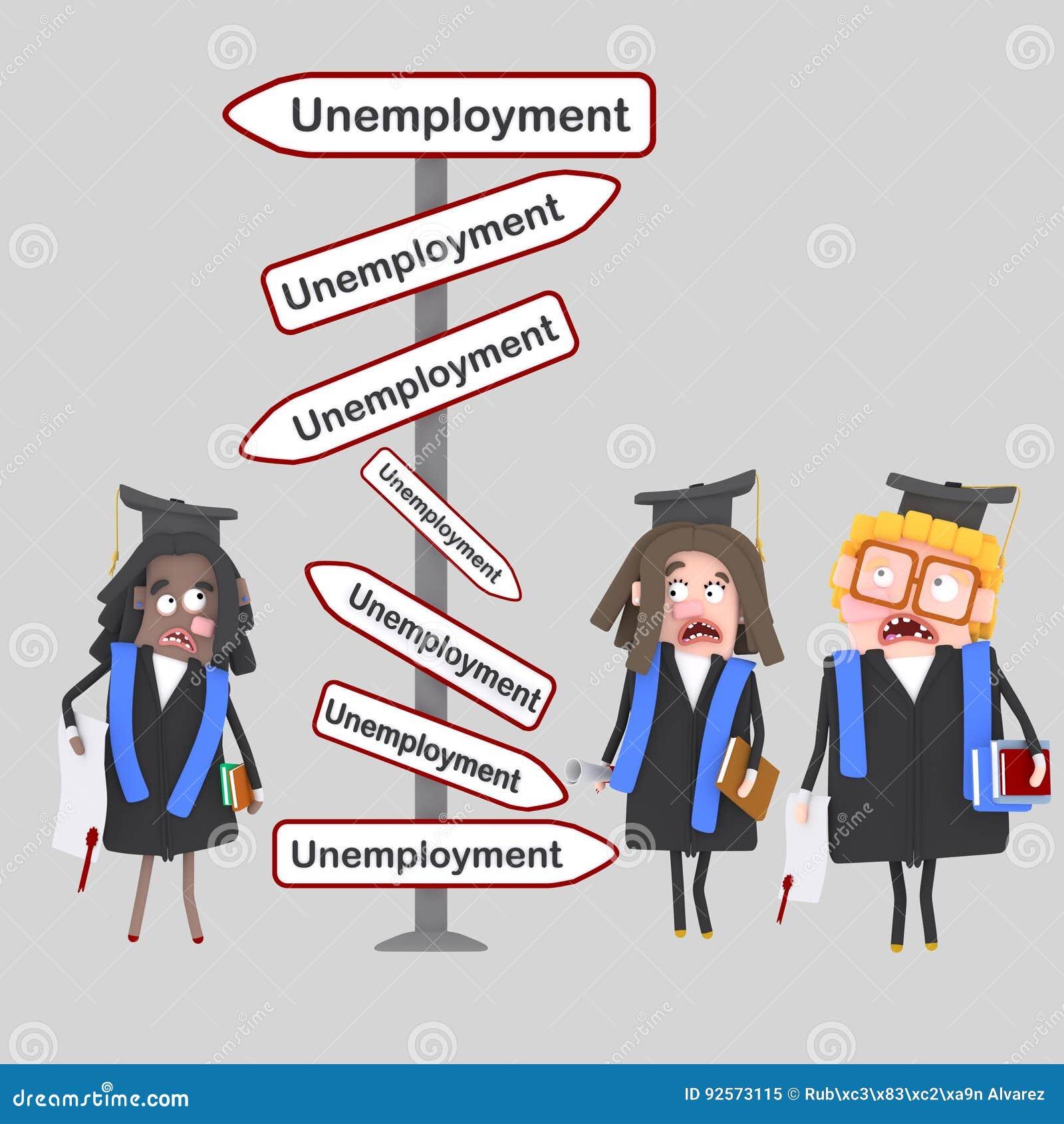 Studenti preoccupati che cercano un lavoro