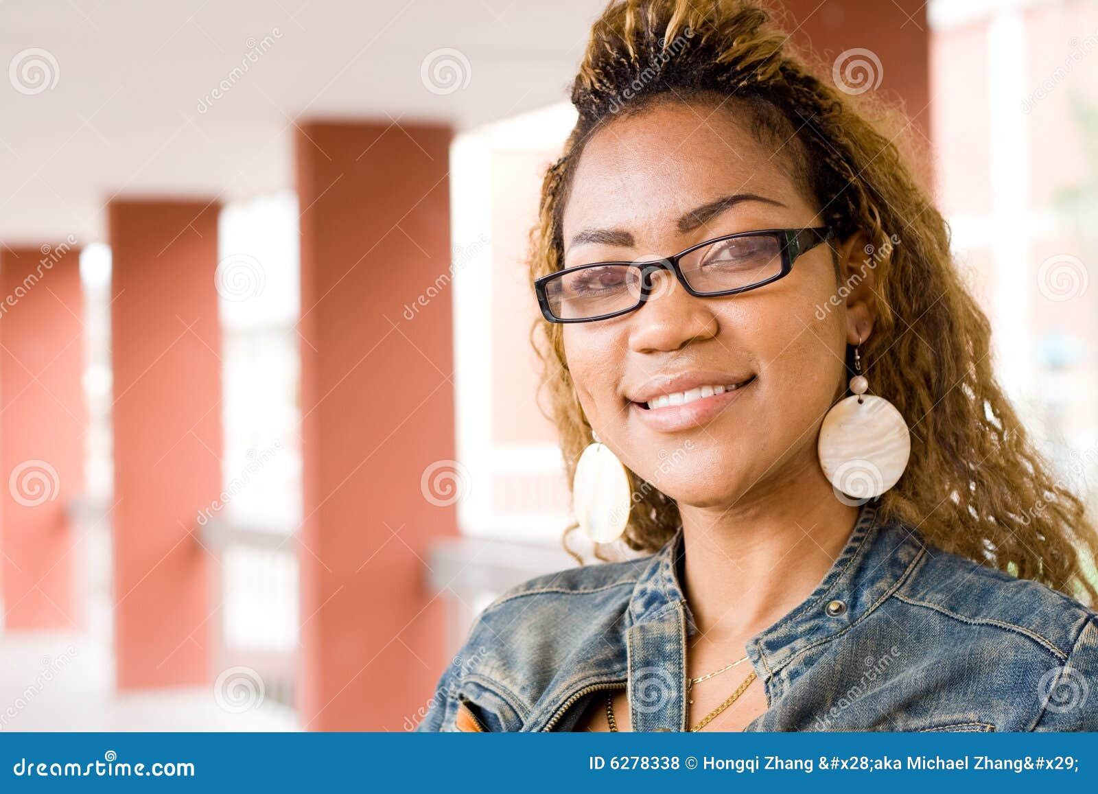 Studentka afrykańskiej