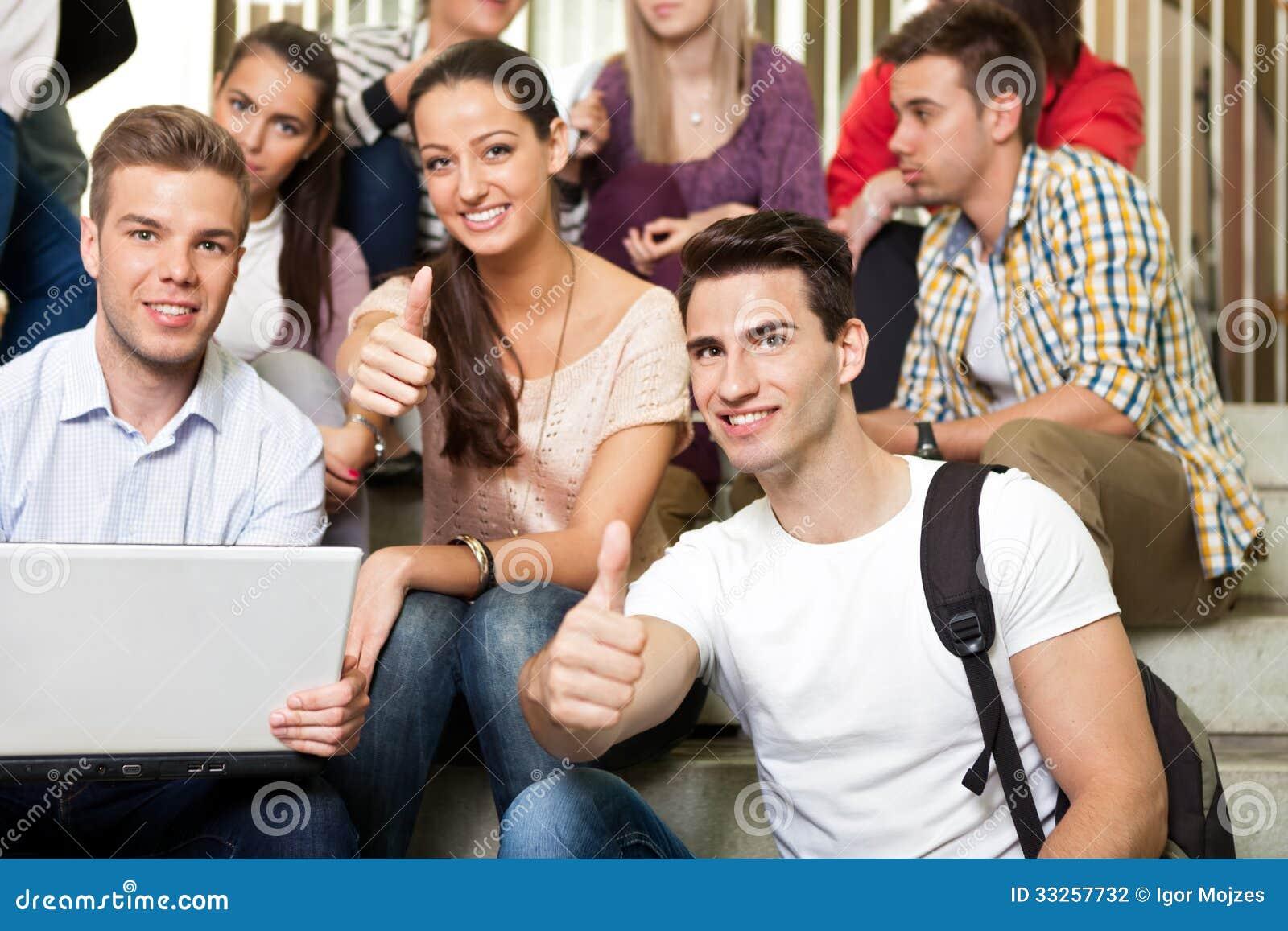 Students on break