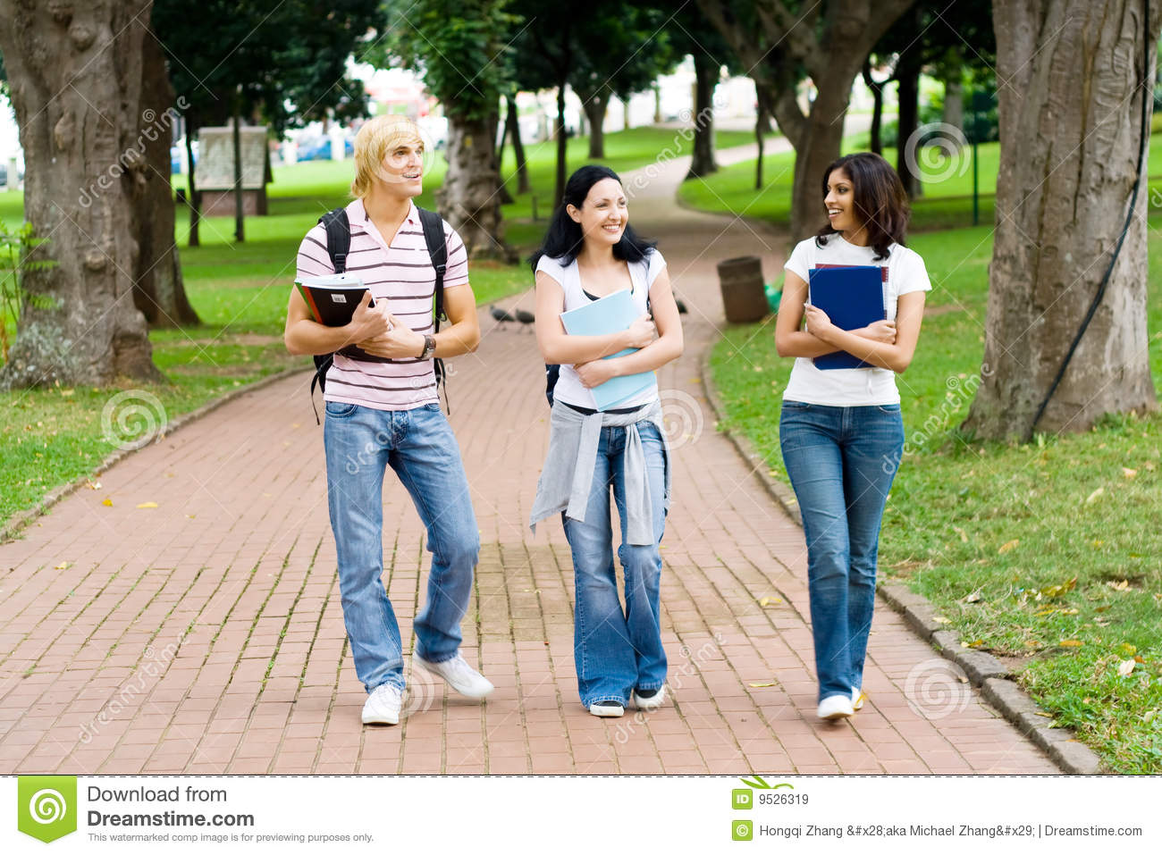 Students in campus