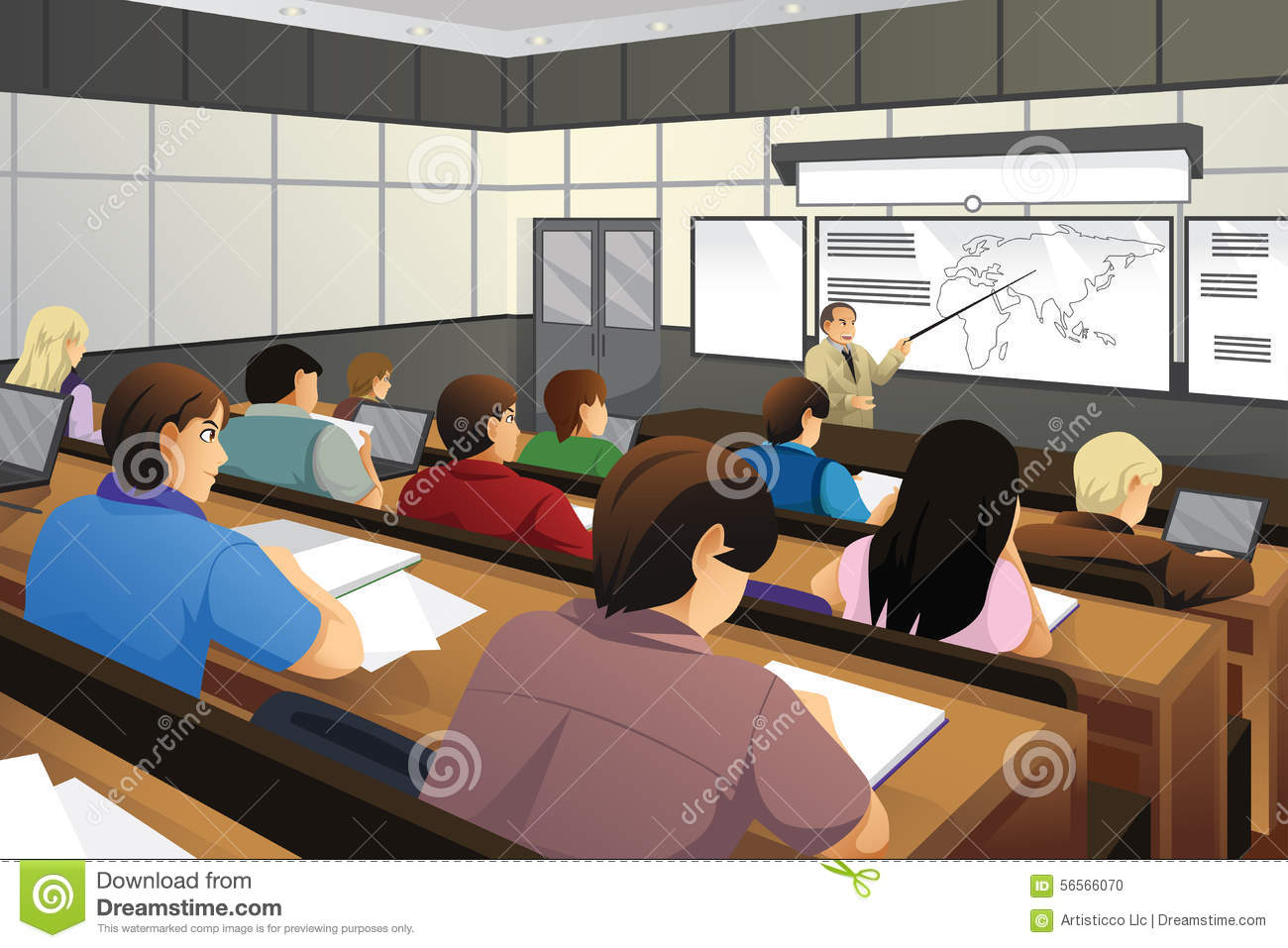 College Student Stock Vectors Clipart and Illustrations
