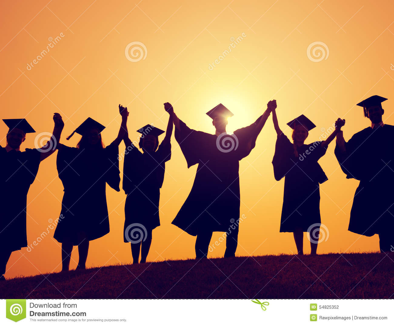 Students Graduation Success Achievement Celebration Concept