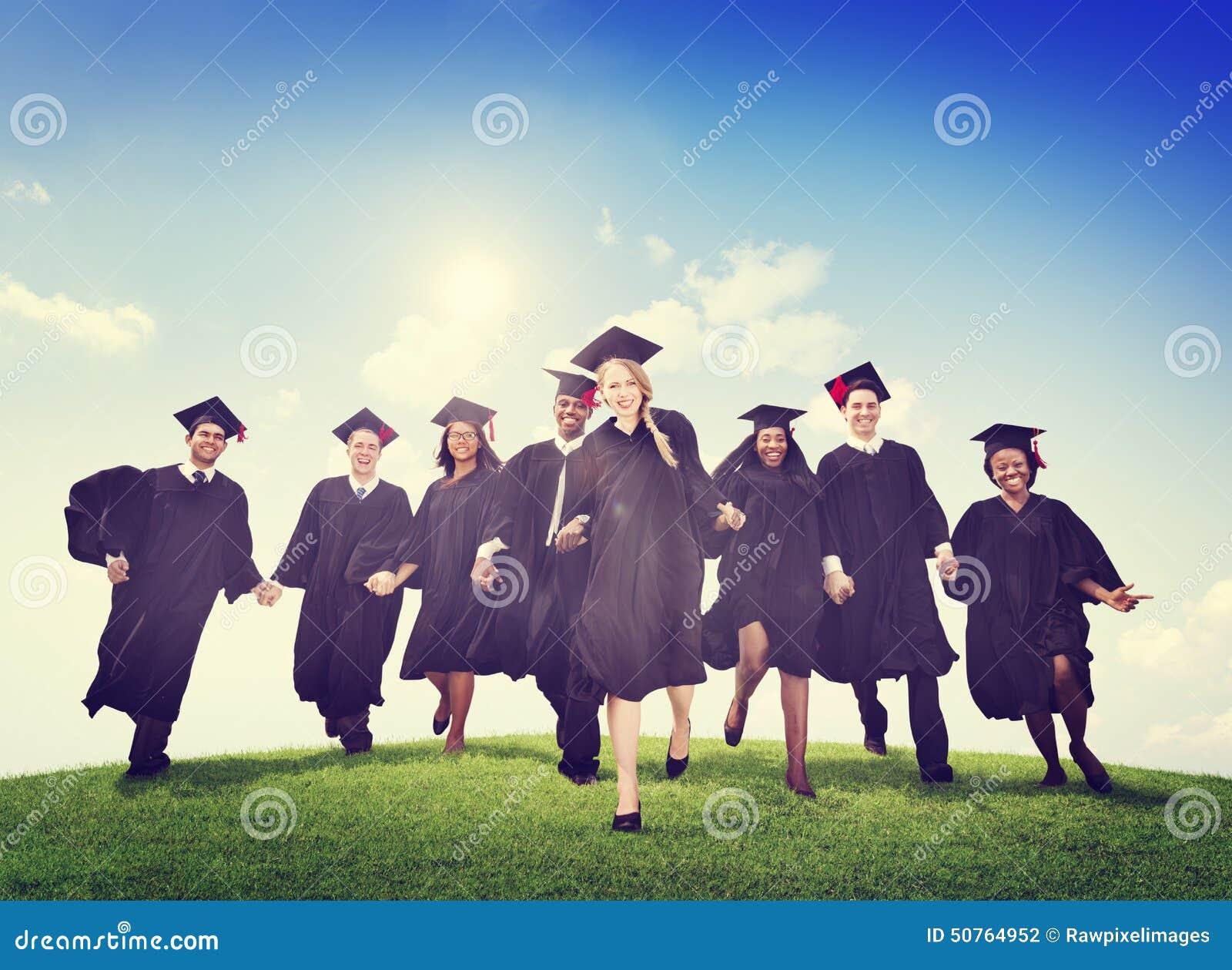 Students Graduation Success Achievement Celebration Happiness