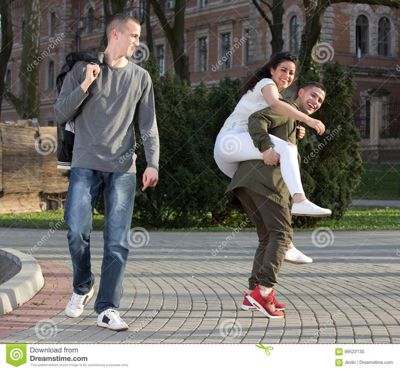 Students Having Fun Stock Photo. Image Of Smiling, Happy