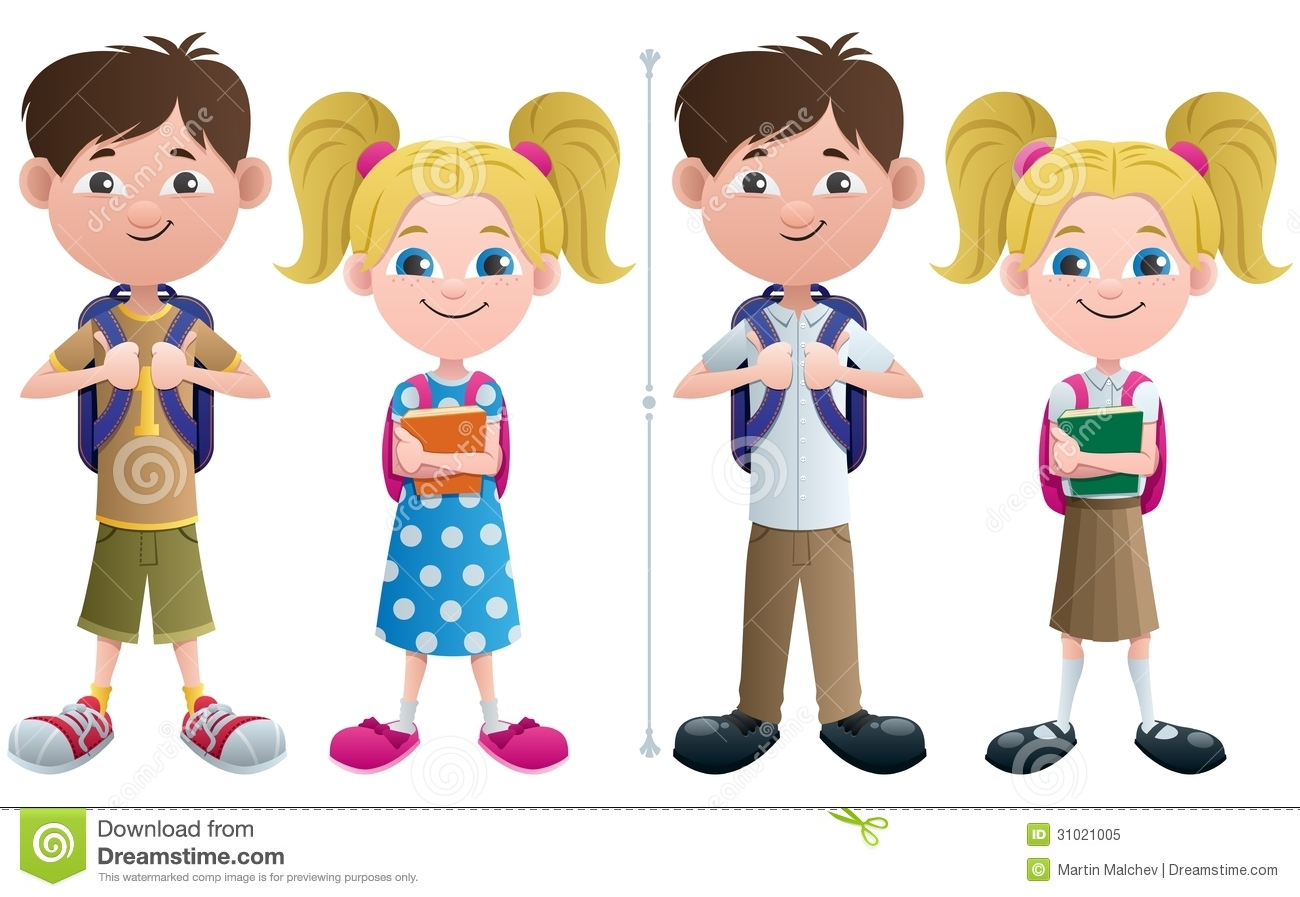 students stock vector. illustration of cartoon, clipart - 31021005