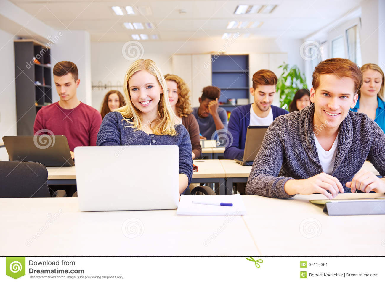 Students Learning With Computers Stock Image Image 36116361