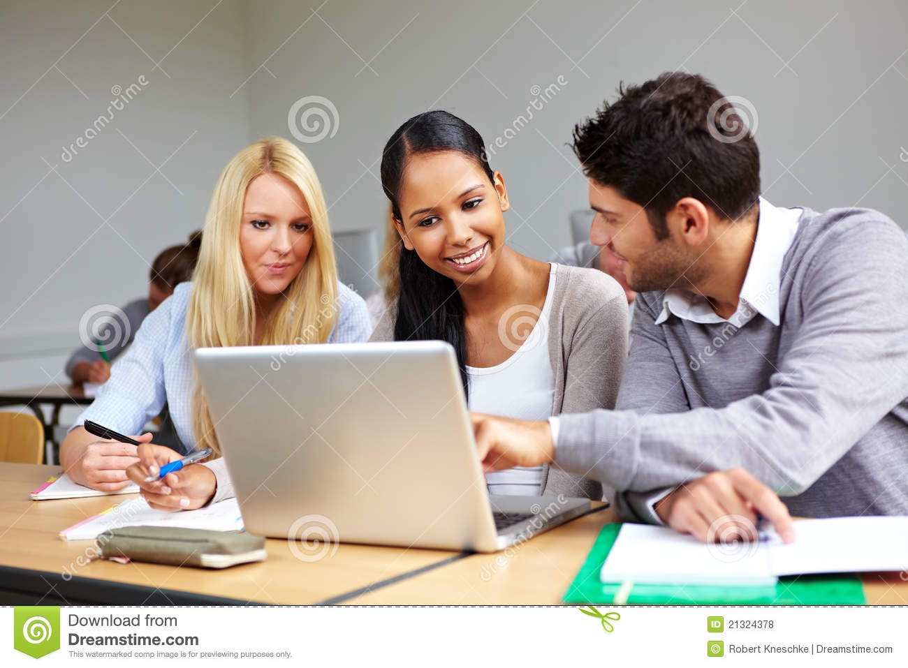 Students Learning Together Royalty Free Stock Photos - Image: 21324378