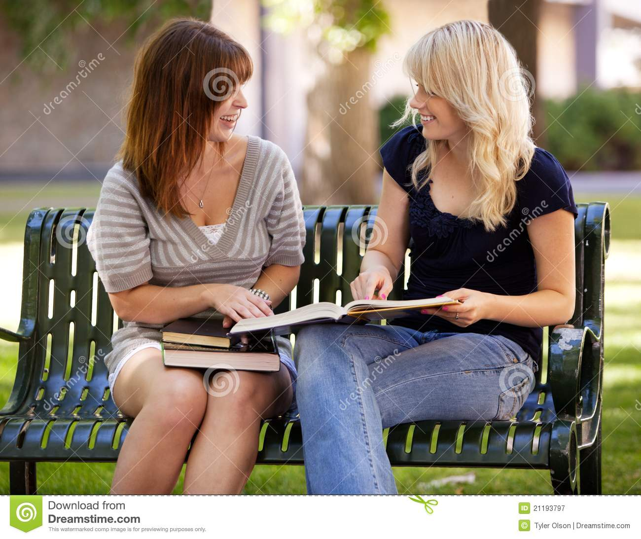 Students Outdoor Study