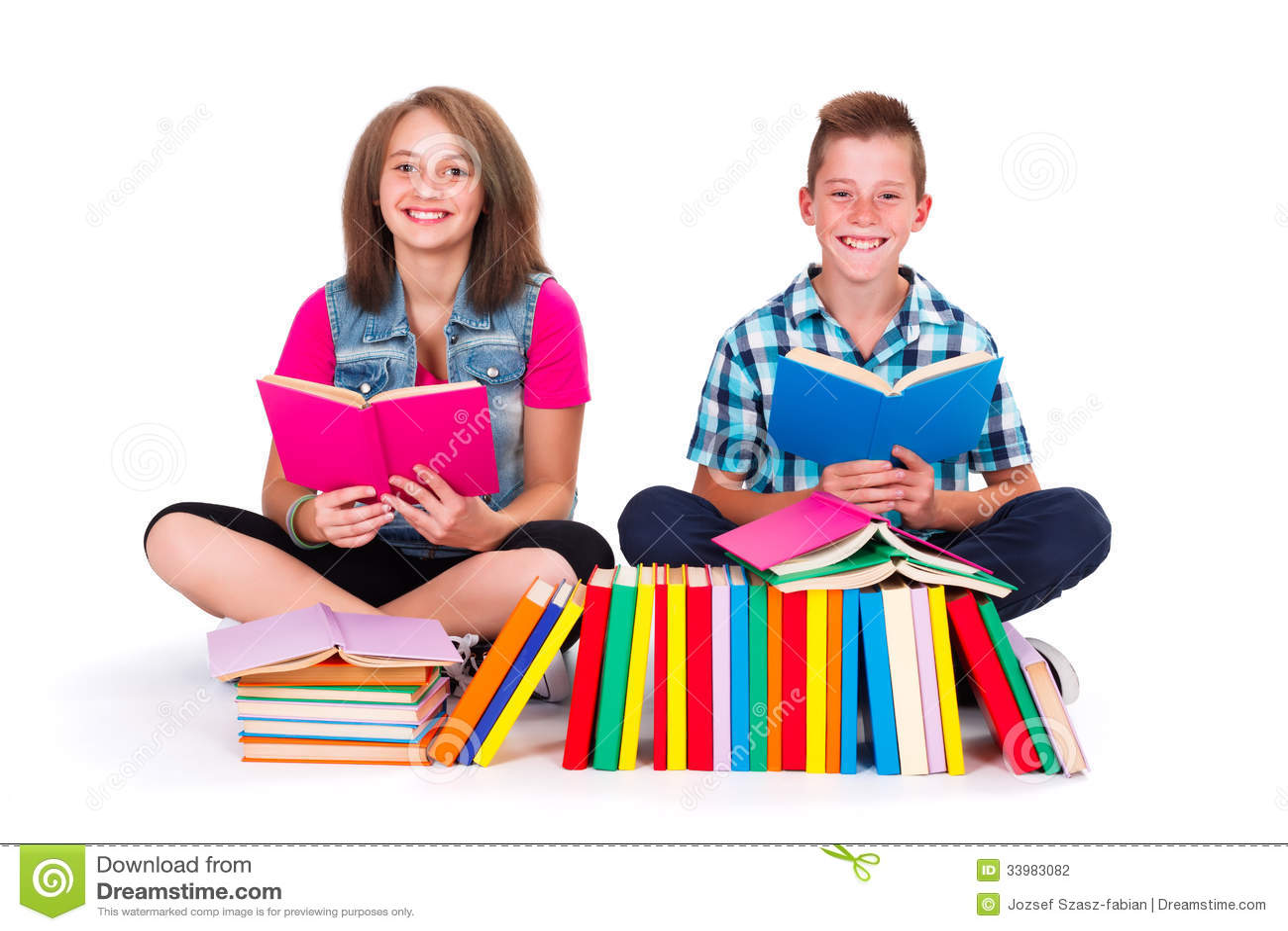 students reading books stock photo image of children 33983082